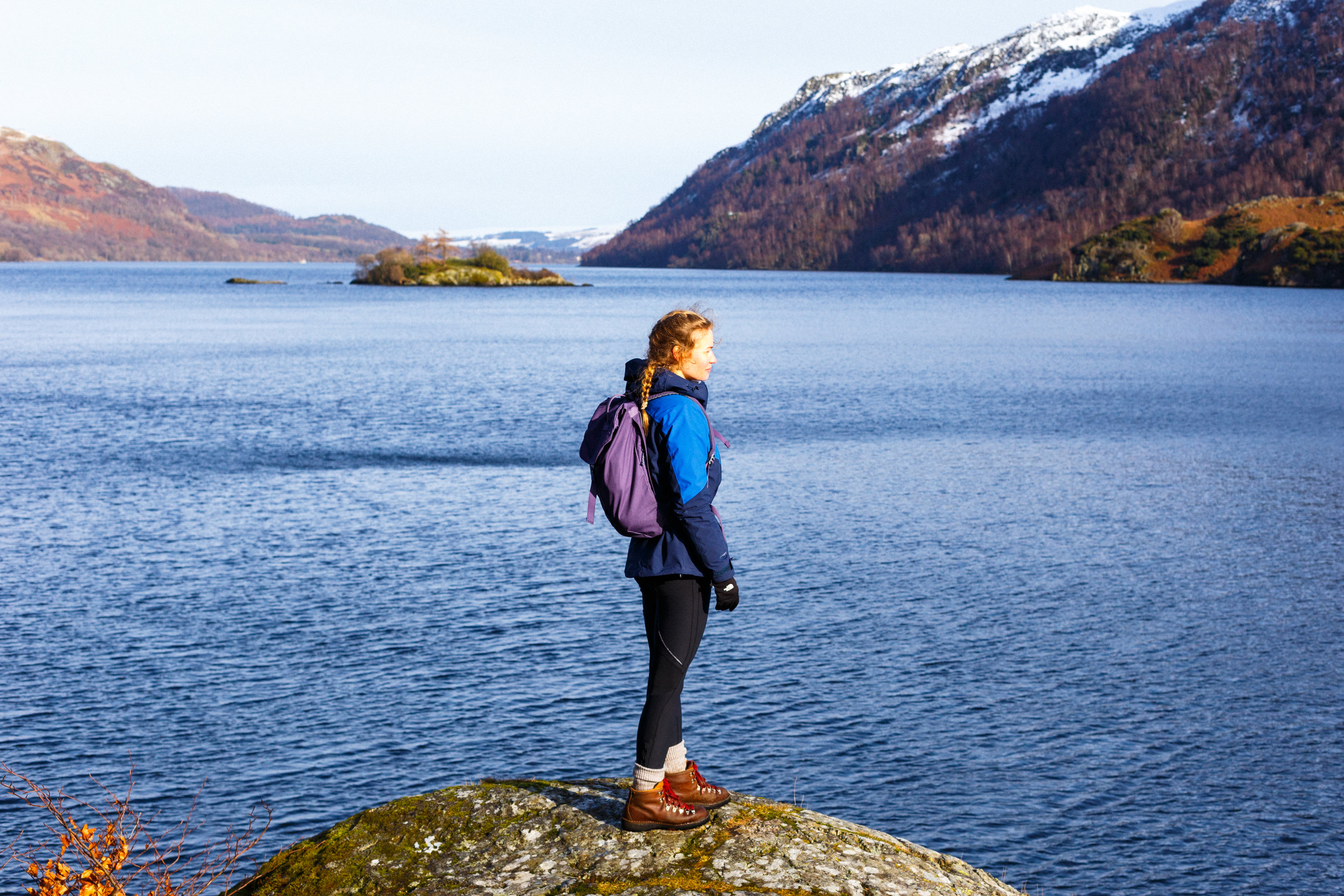 Wearing the Heather Fraser on the banks of Ullswater