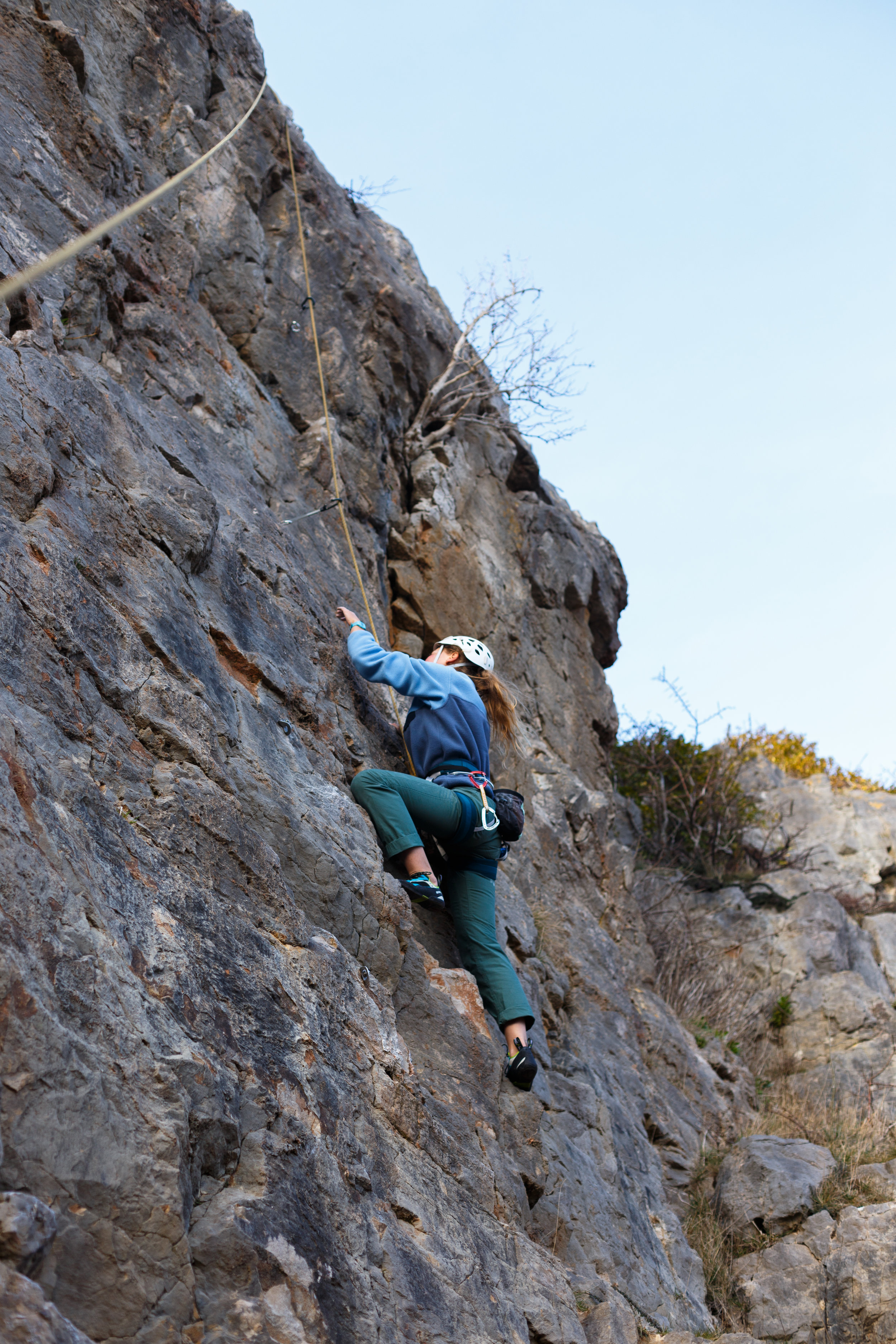 My first outdoor climbing experience in Wales