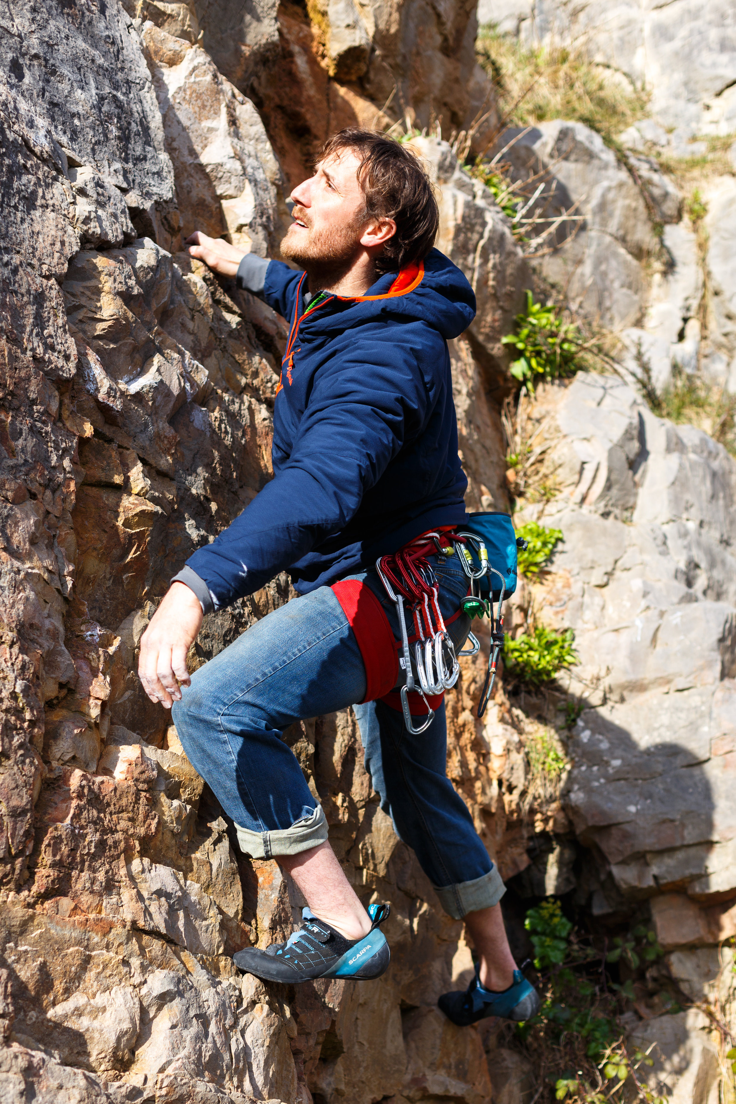 Harvey in Wales - learn to climb with someone who is patient and calm