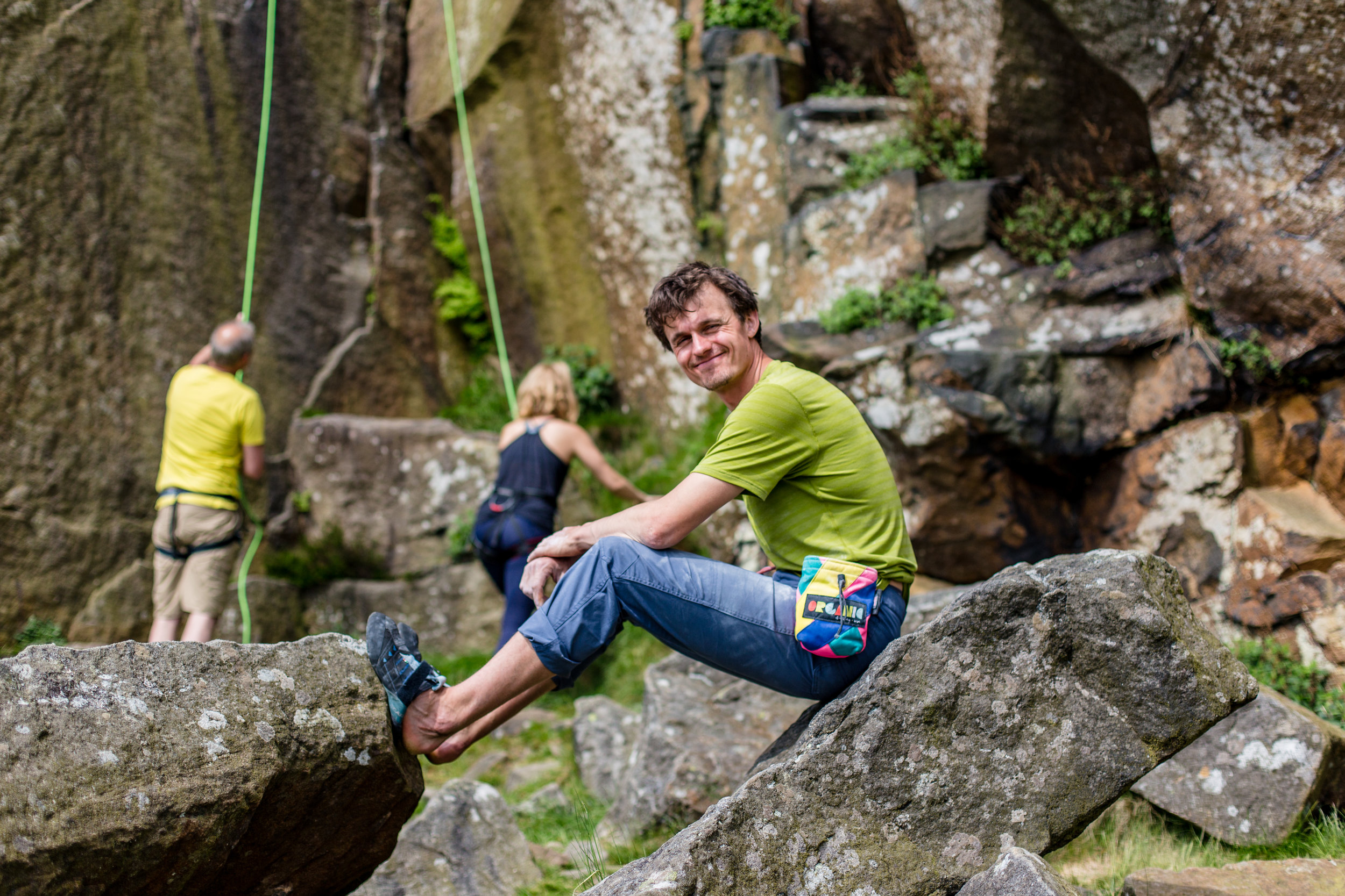 Rob of UK Climbing at the crag