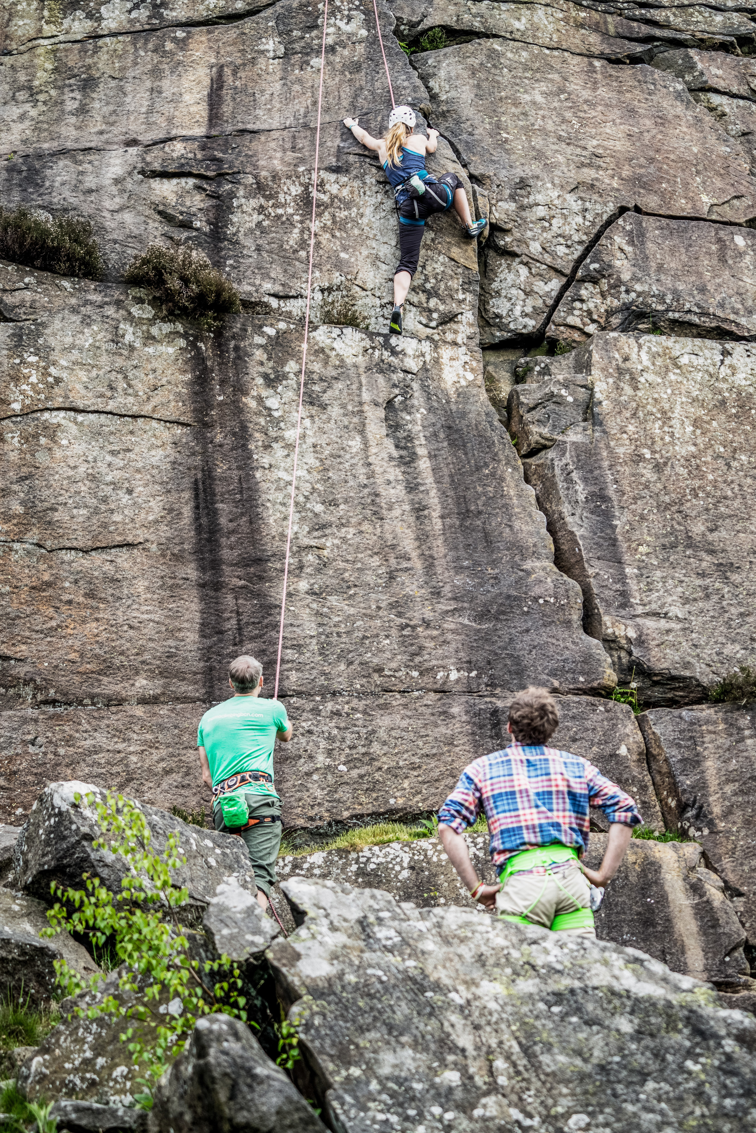 Tackling Trapeze Direct - this is the difficult bulge section I was stuck on. Photo by Phil Sproson