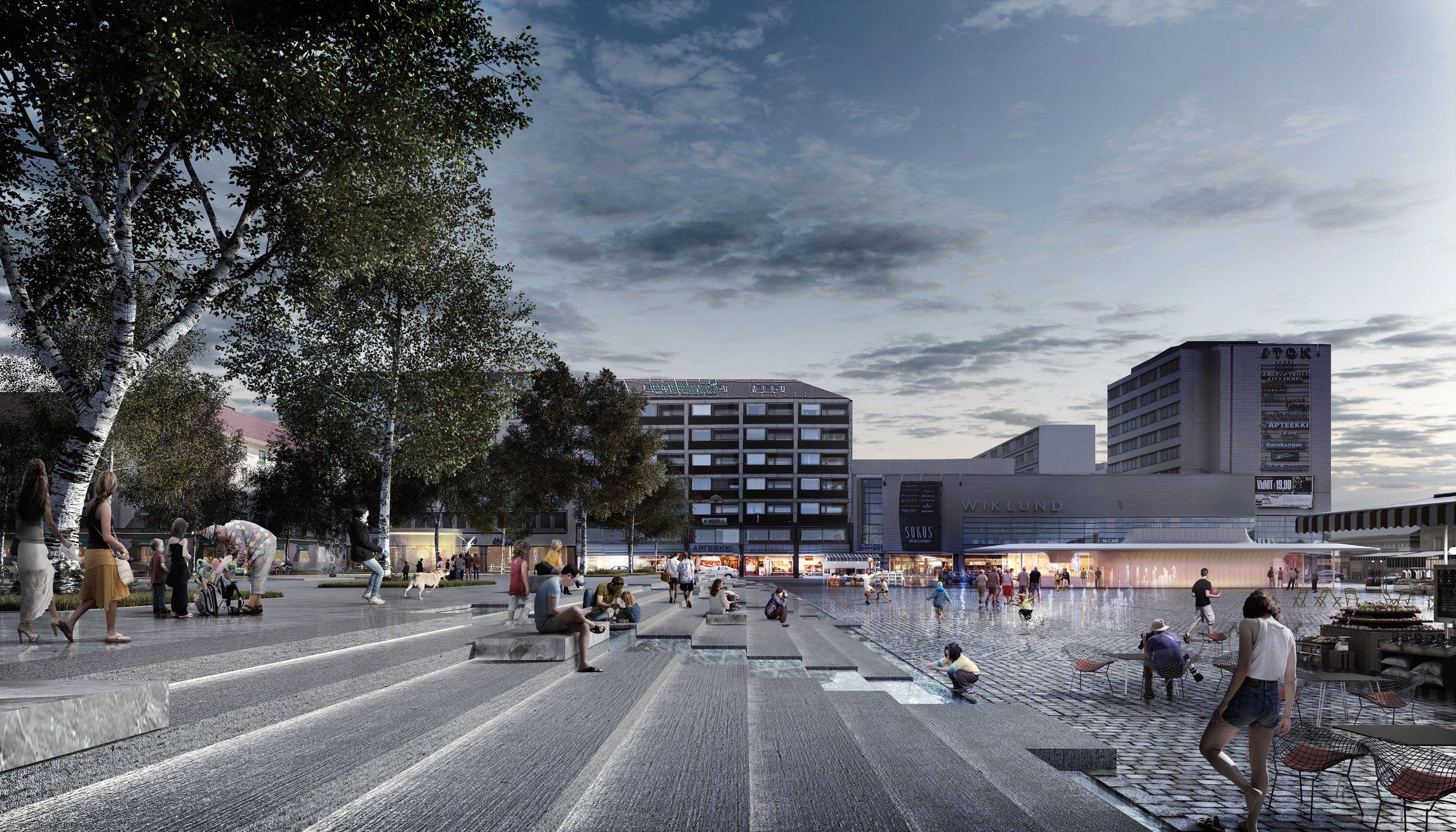 Turku market square in the future