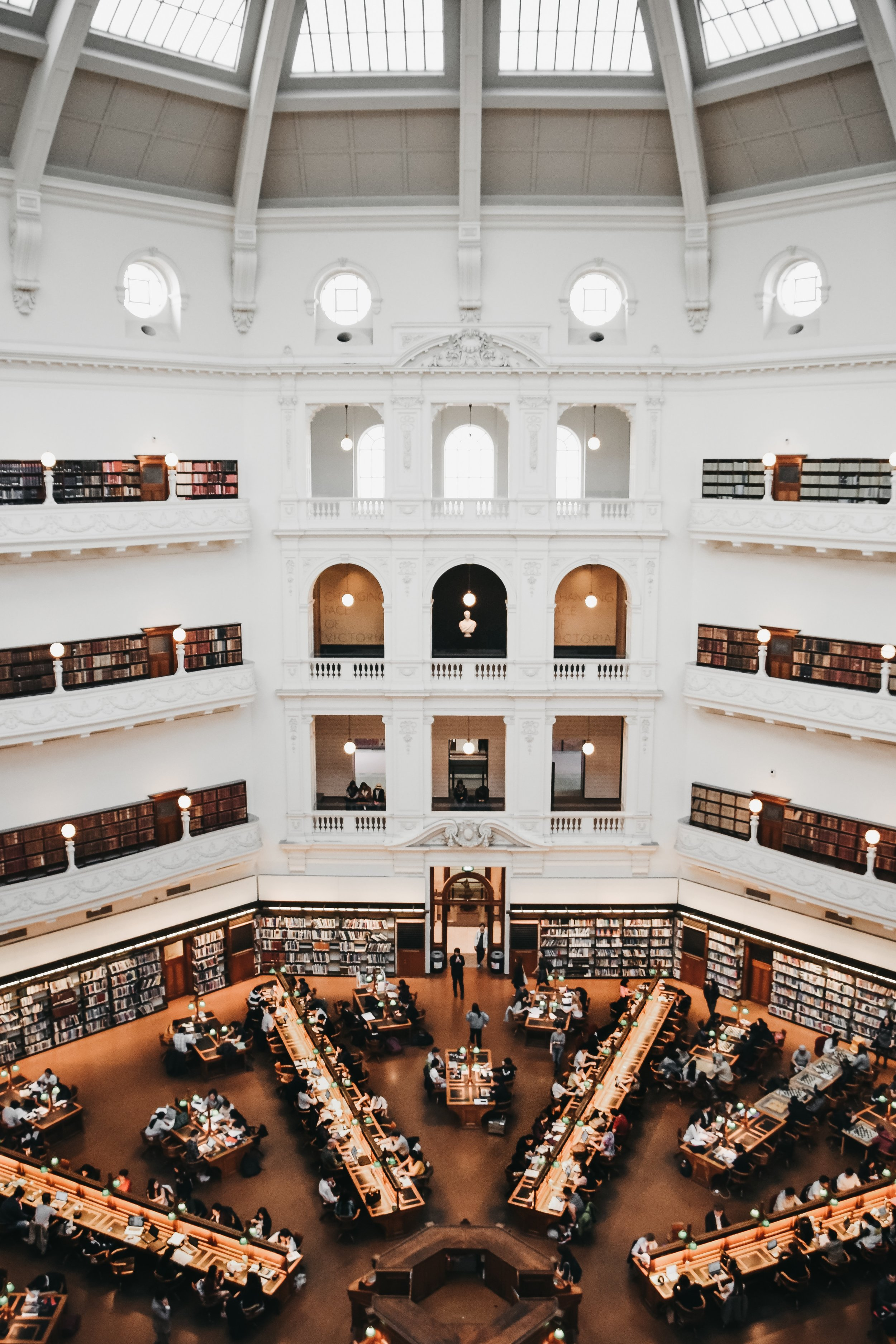 Reading room inside the State Library Victoria. Photo by Agathe Marty