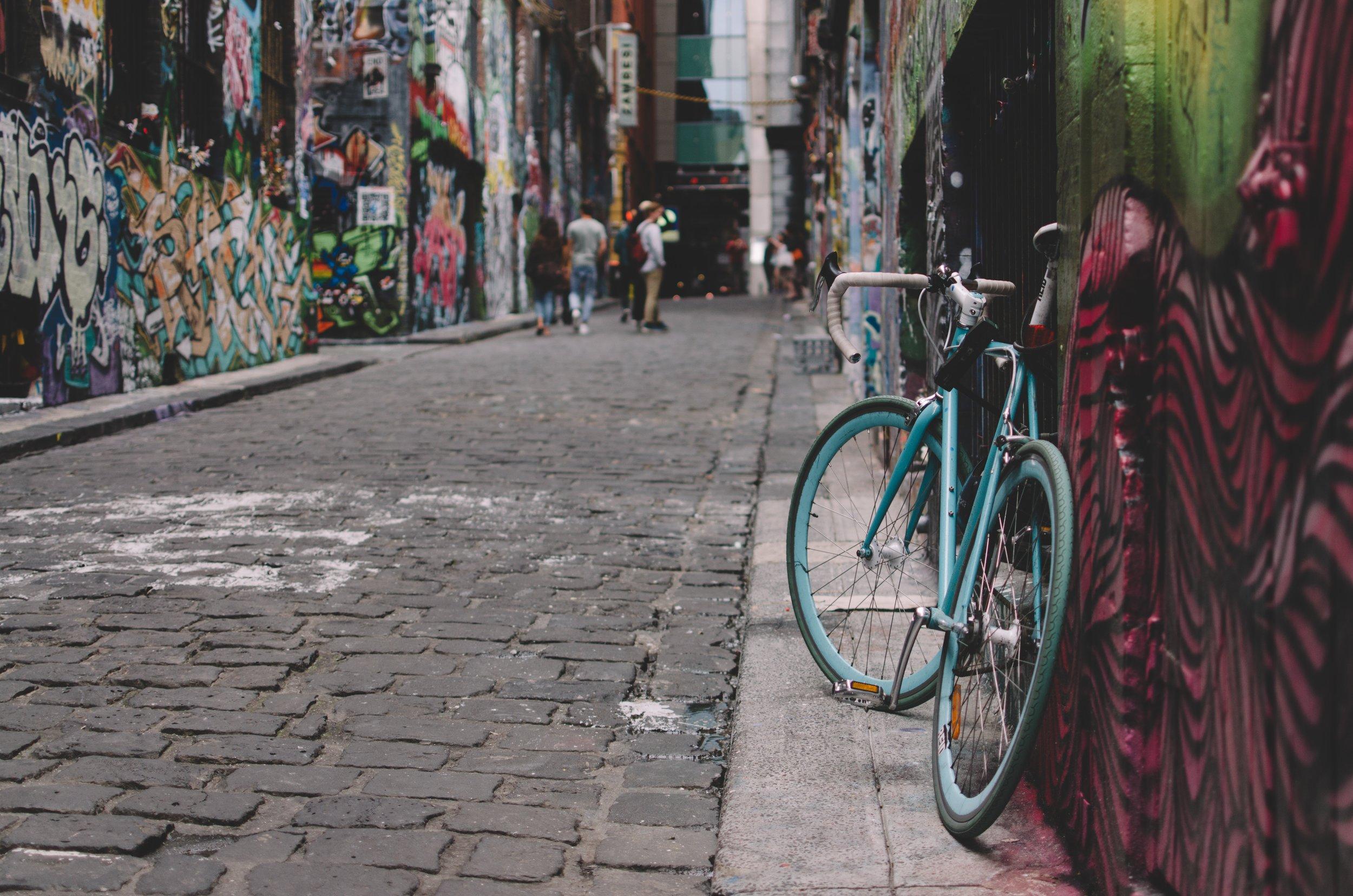 Street art and graffiti in Hosier Lane, Melbourne. Photo by Linda Xu