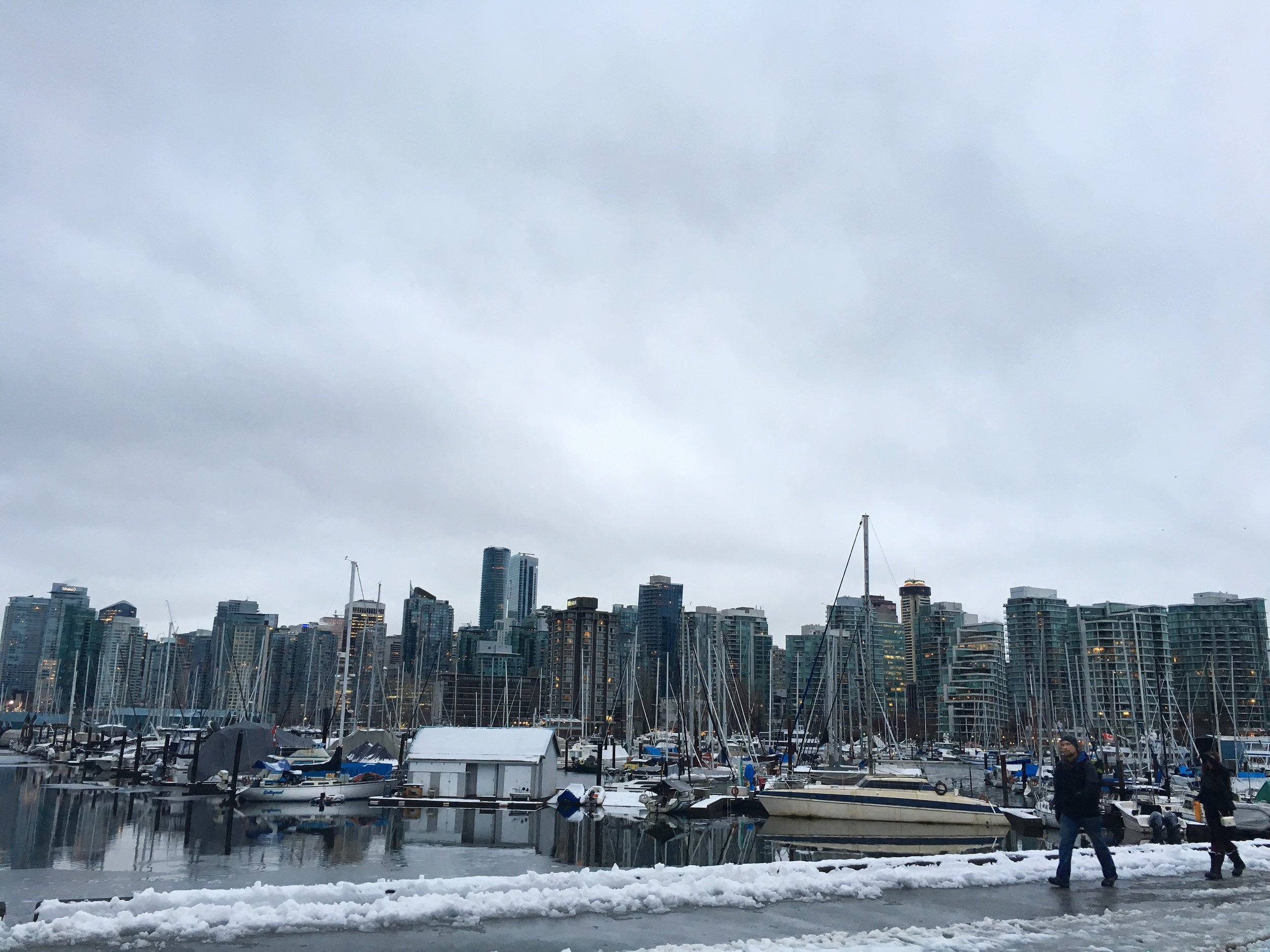 Vancouver Harbor, Vancouver, BC –Found a 78$ ticket to Seattle and drove up to Canada