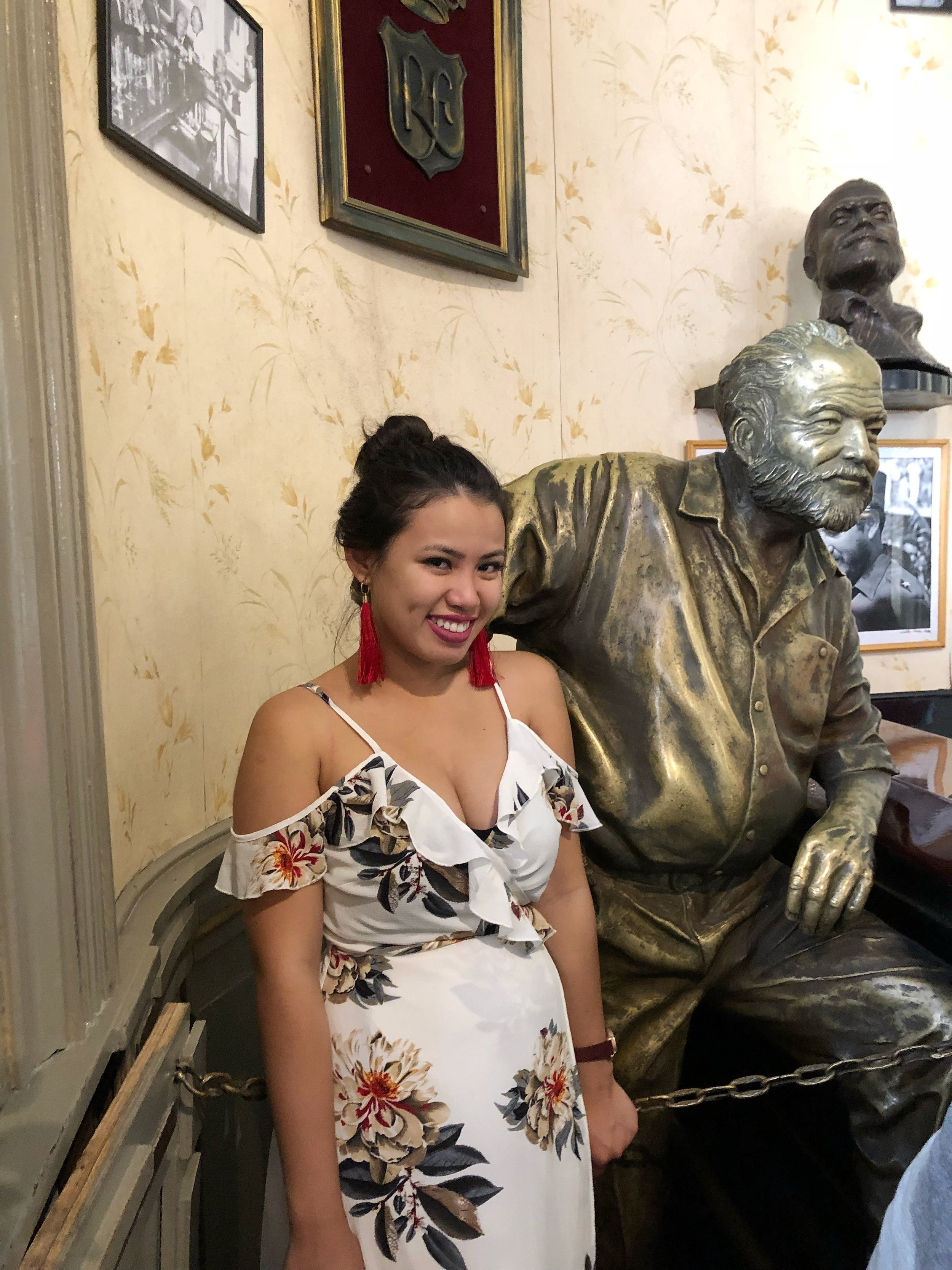 With Hemingway where he used to always hang out