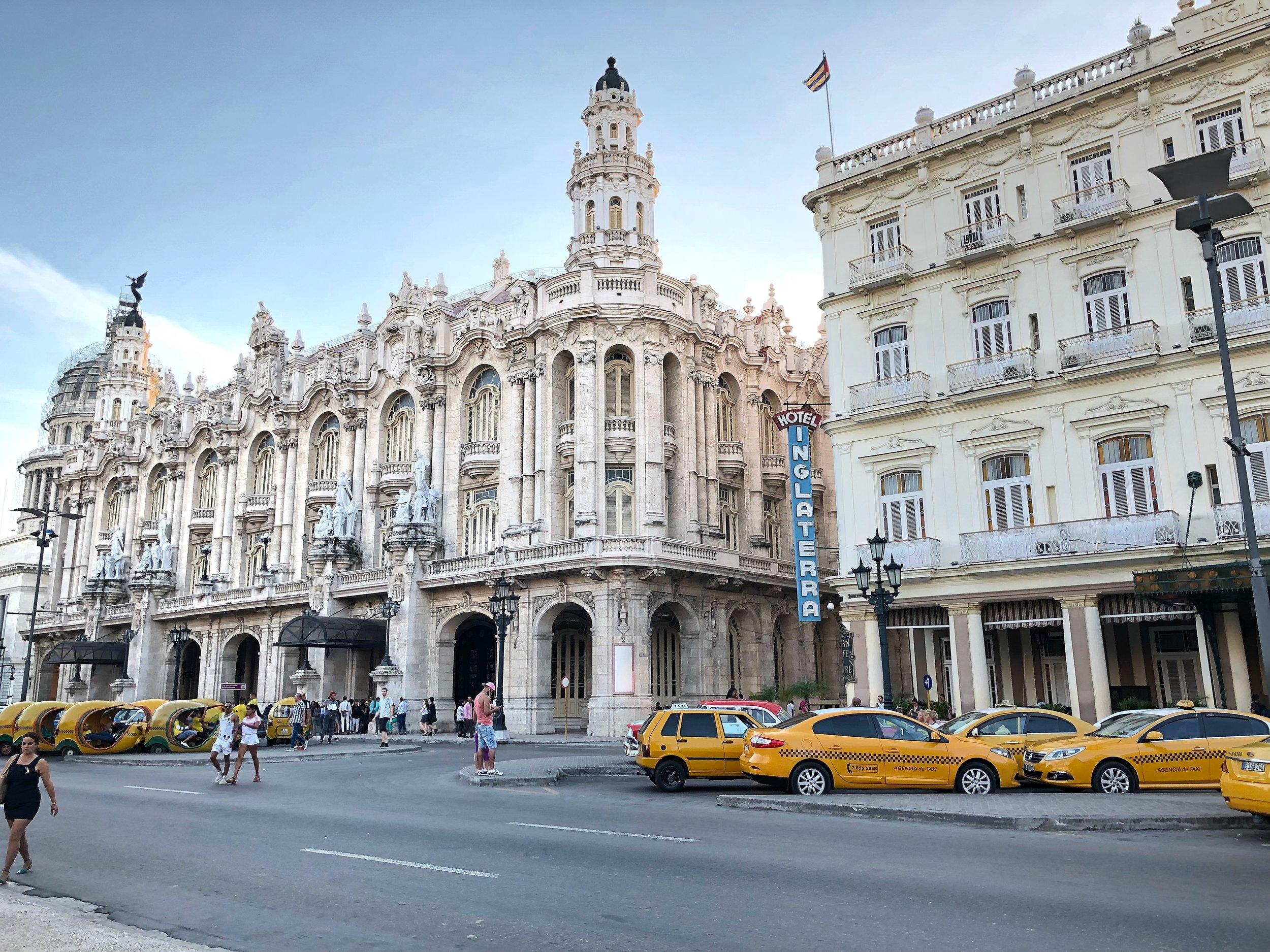In front of Hotel Inglaterra