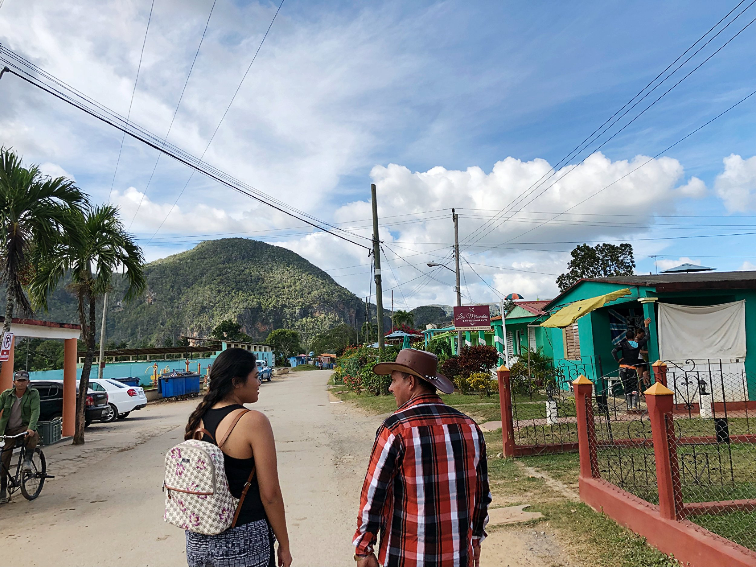 With Pupito at the foot of our tour of Viñales Valley