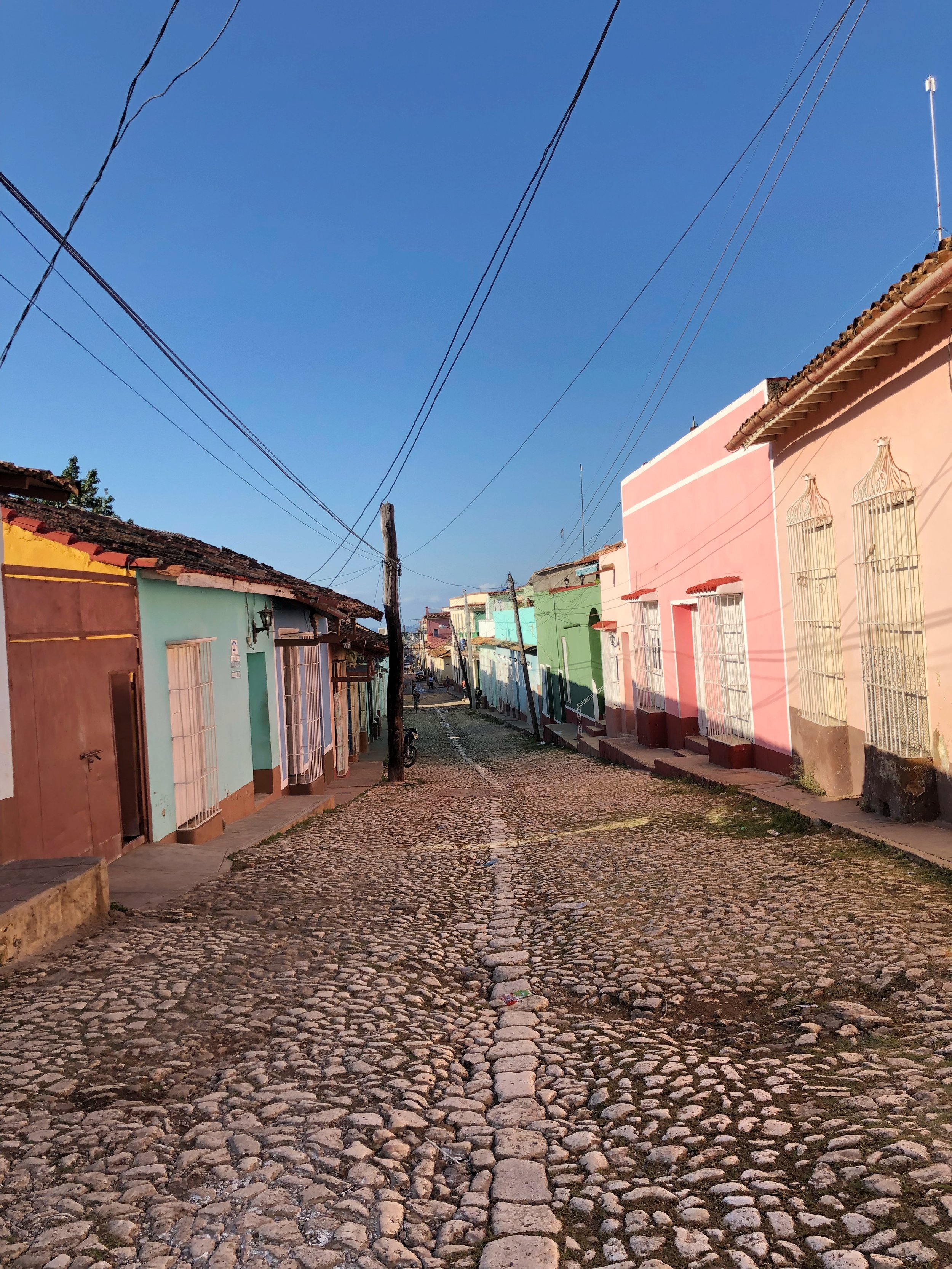 The cobblestone streets of Trinidad