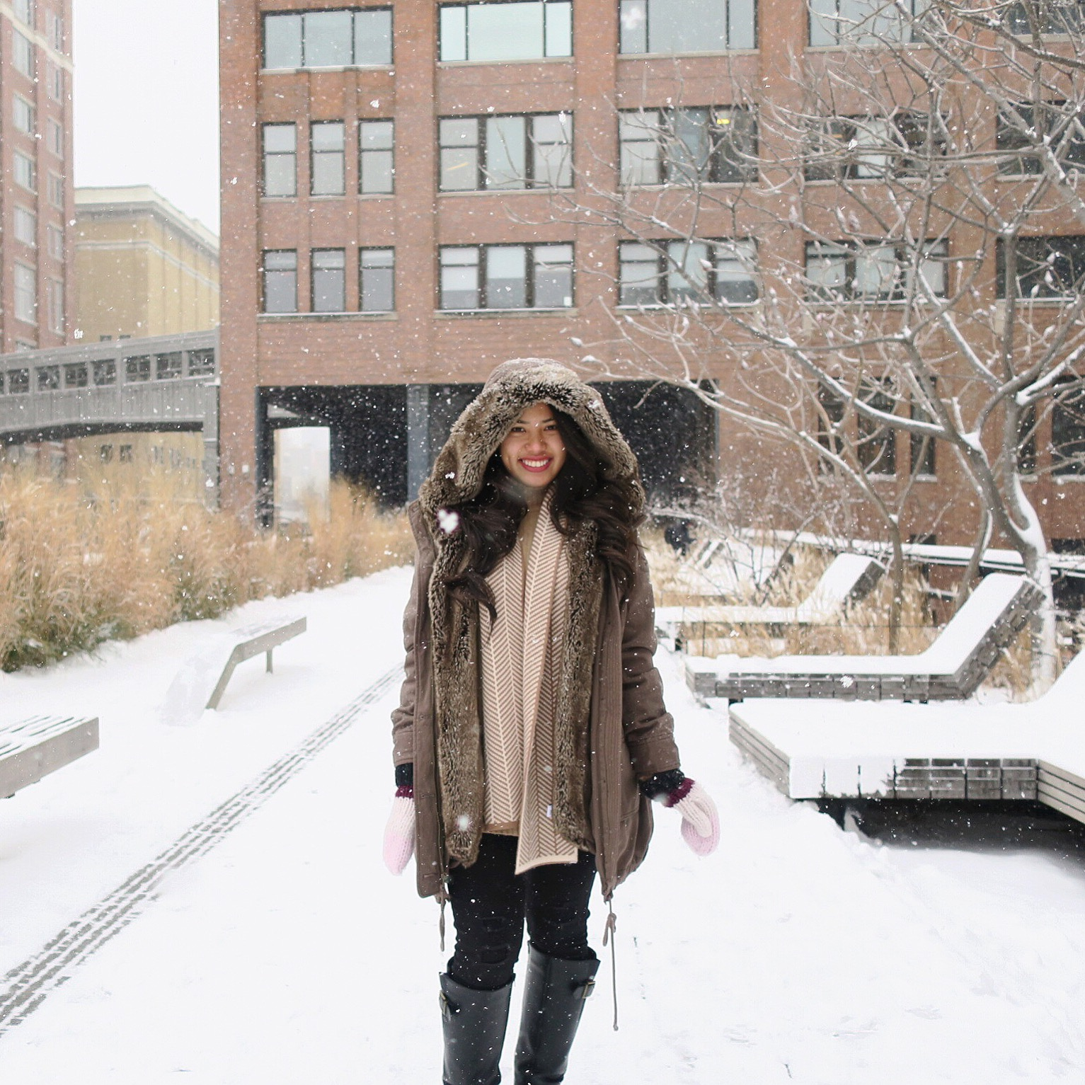 Lucky for me (debatable among other people), I was in NYC during the snow storm and got to experience soooo much snow!  YAY !