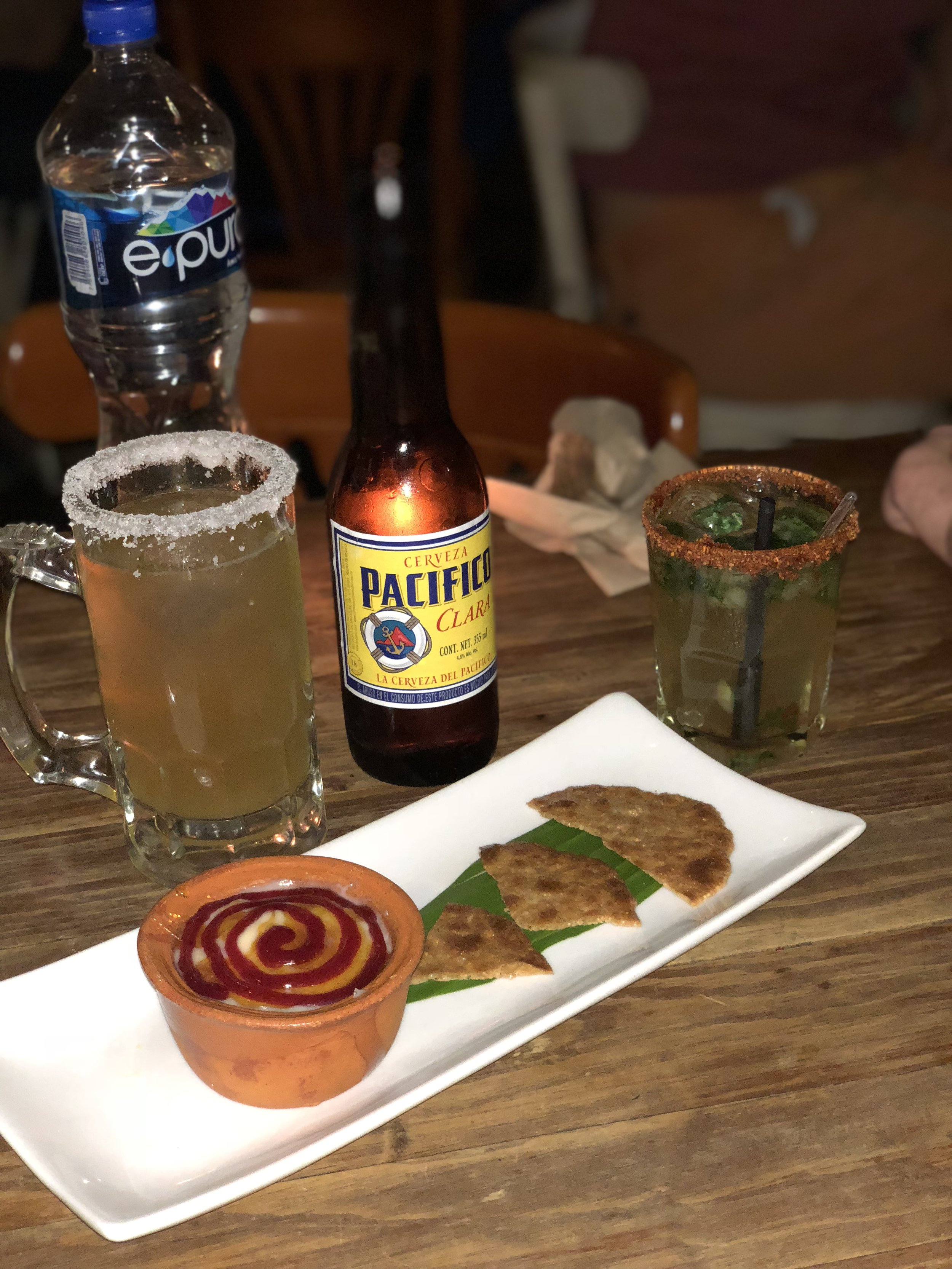My new favorite (Micheladas) and spicy creme brûlée-- delectable