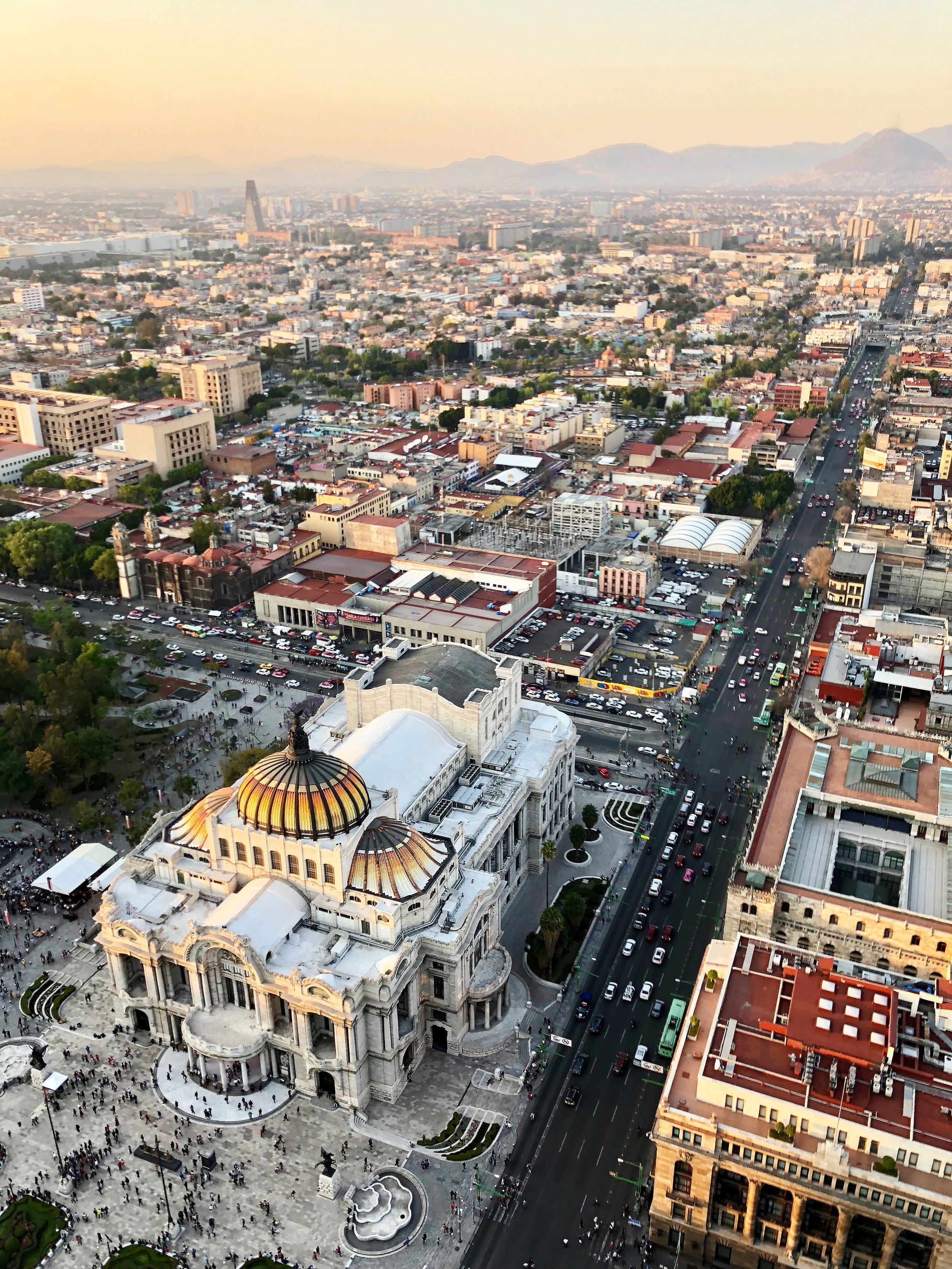 The view from the top of  Torre Latinoamericana