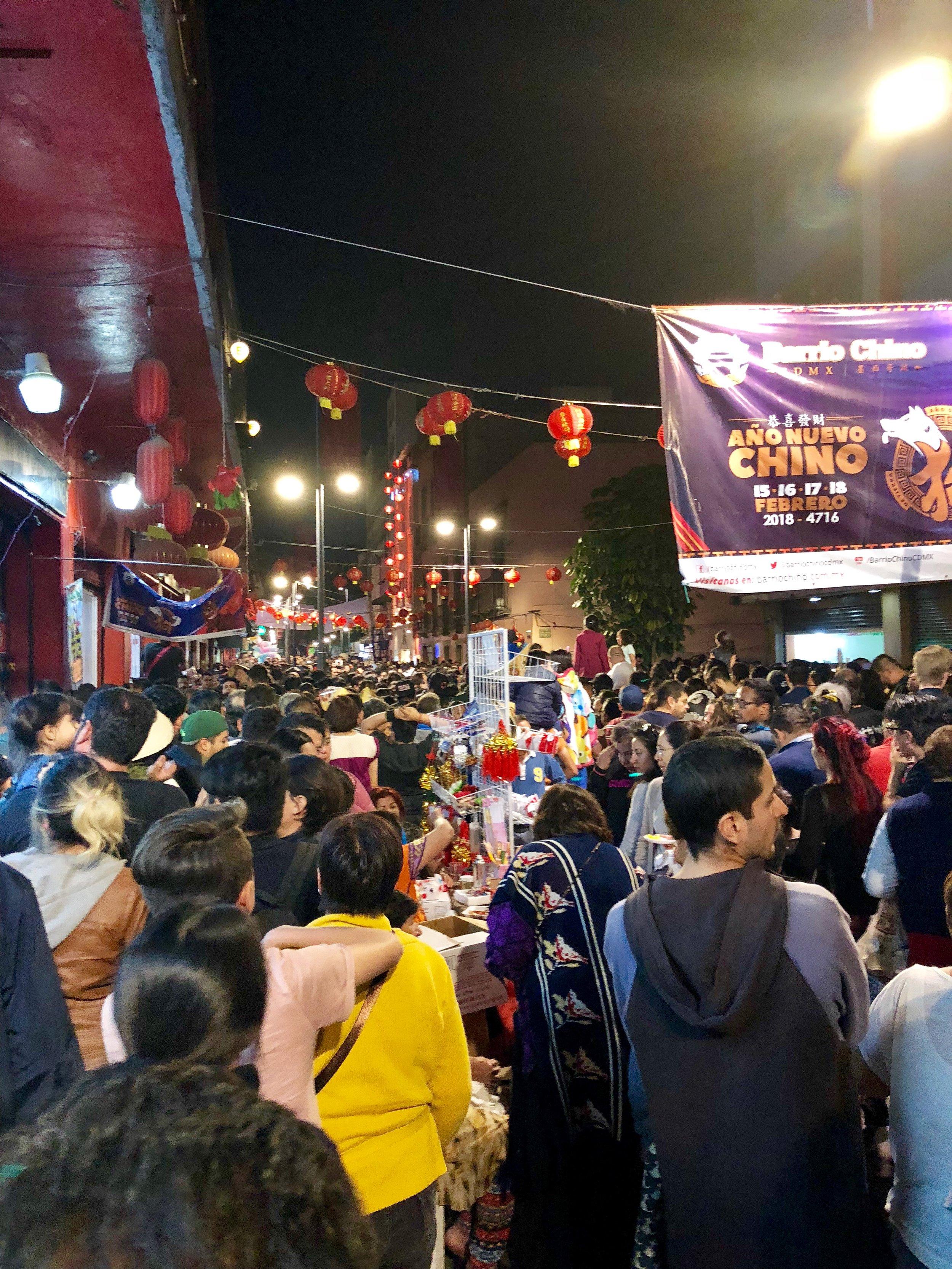 Lunar New Year celebration in  El Barrio China aka Chinatown
