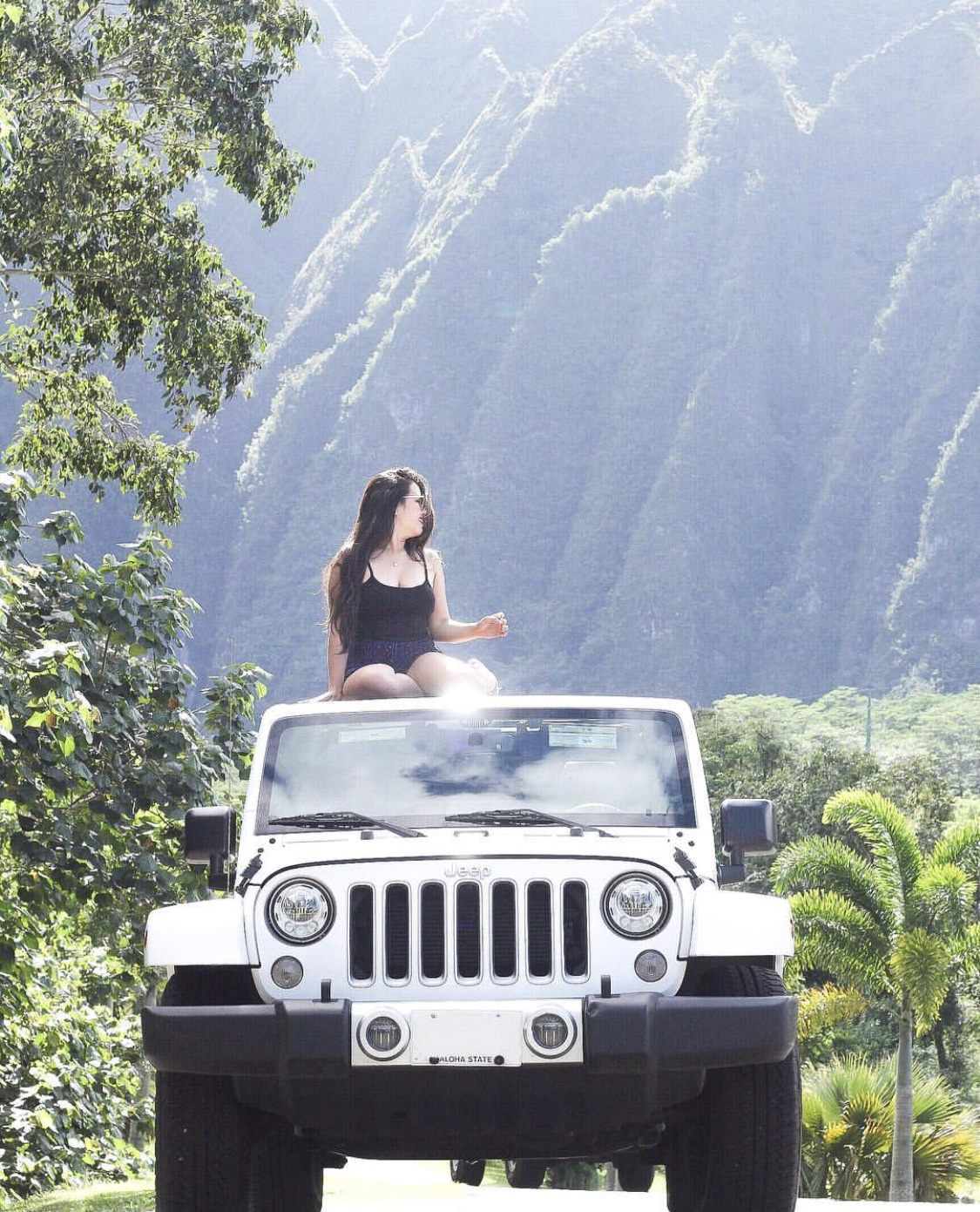 Rented a white jeep   specifically   so I can take this exact photo--I didn't just randomly get this!