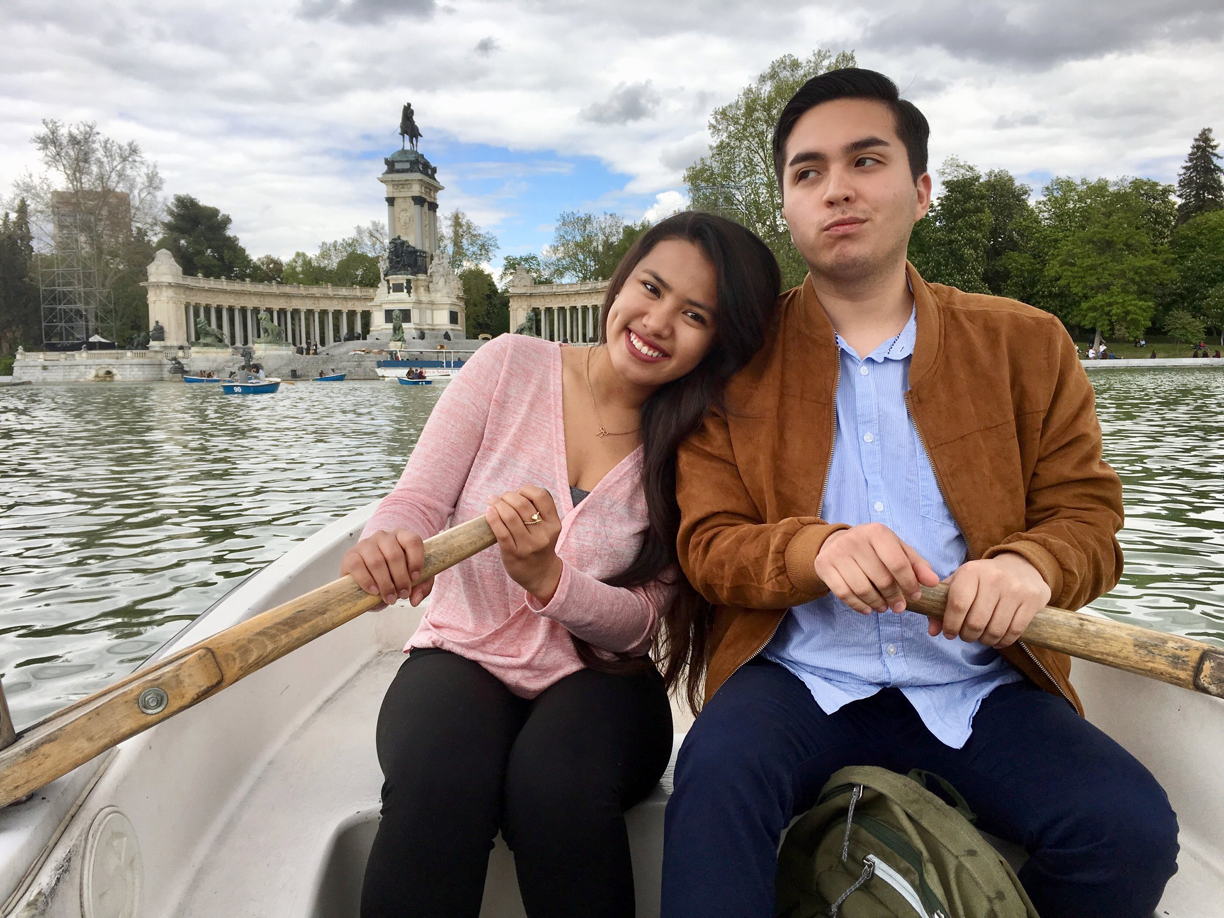Paddle boating in a lake at  Parque Retiro  in Madrid with my bestfriend Lalo,  who I actually   became friends with through traveling!  (Madrid, Spain)