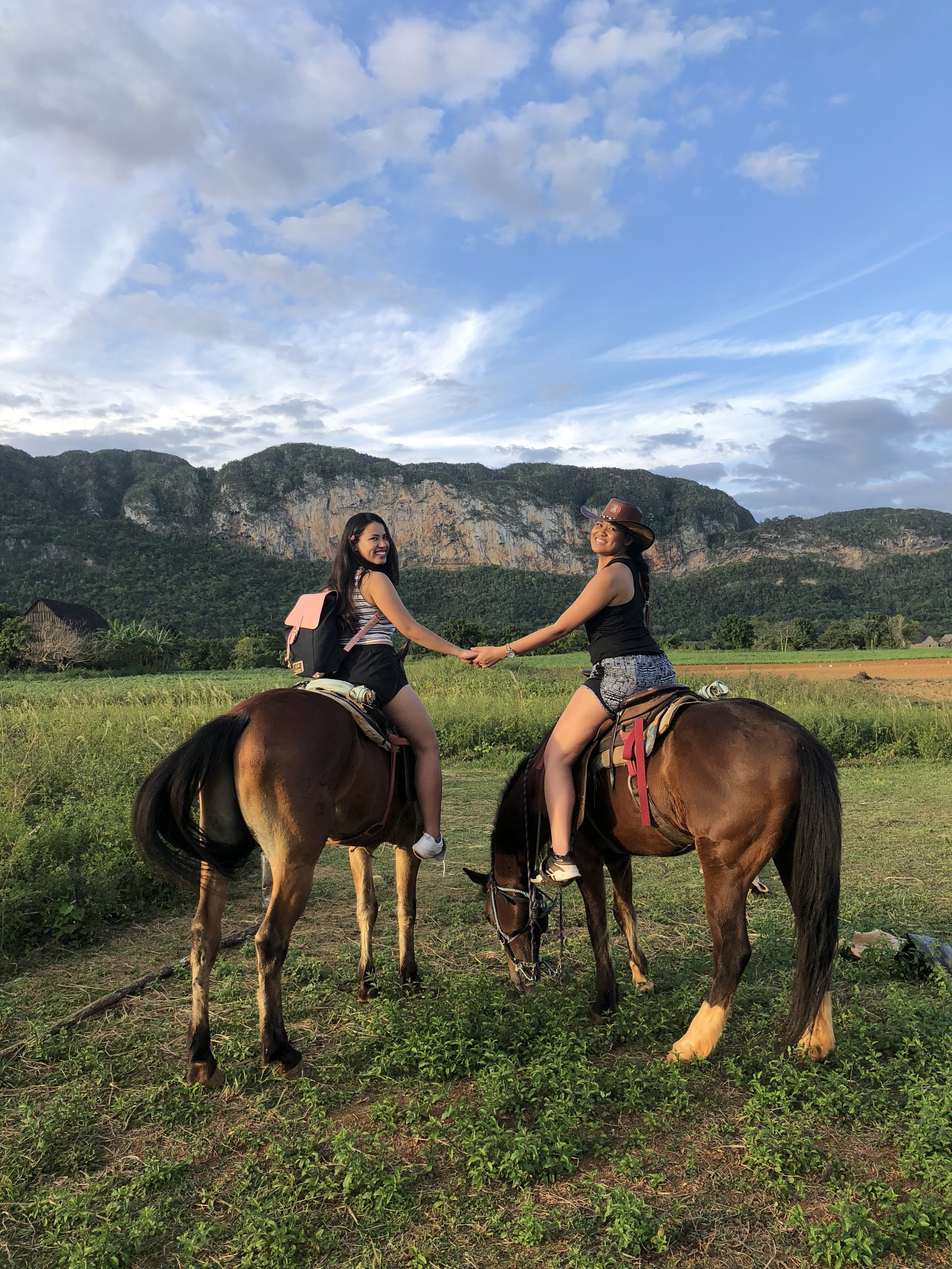 Horseback riding through  Viñales Valley  with Rawrjay aka one of my favorite people to see the world with! (Viñales Valley, Cuba)