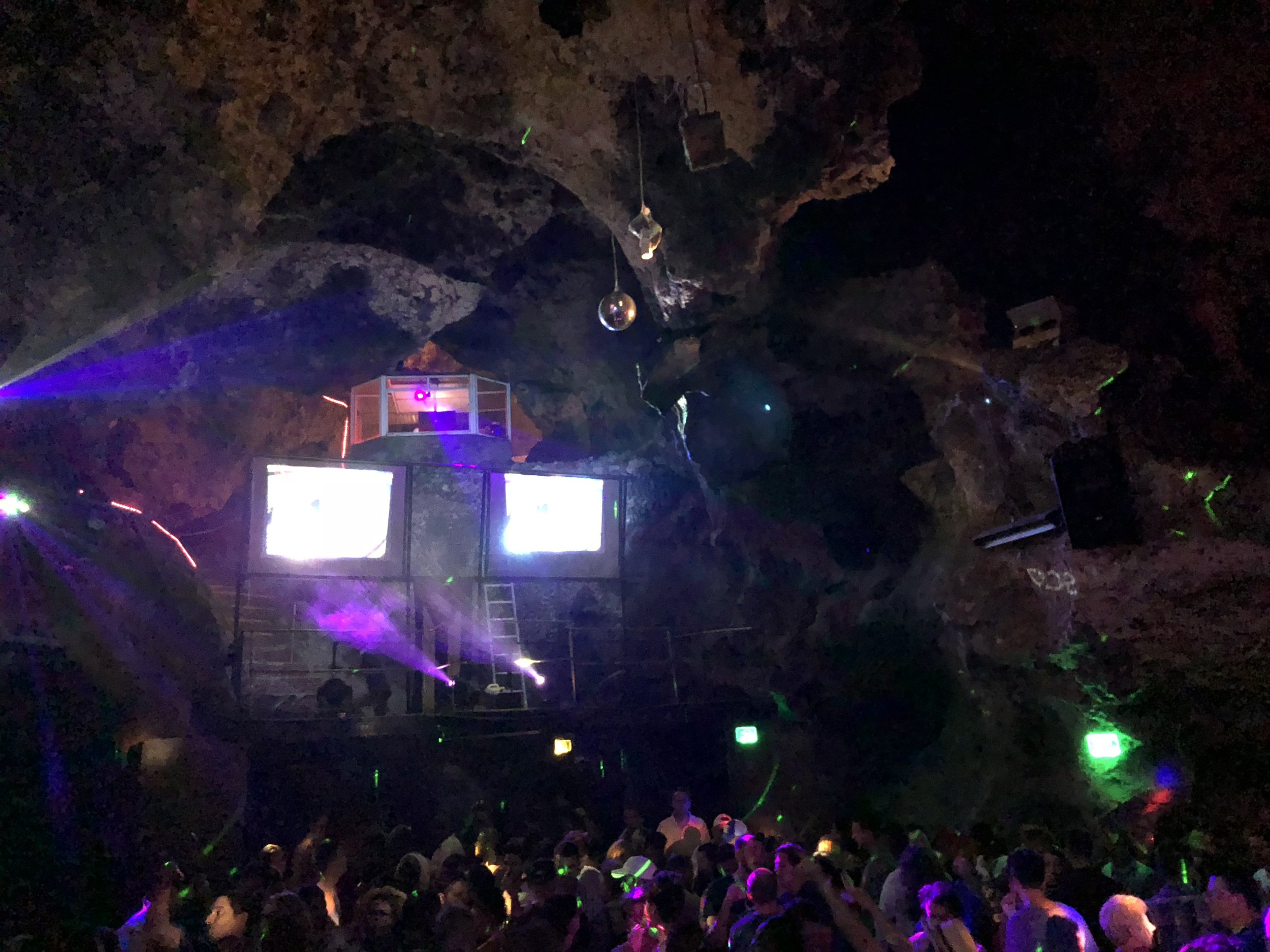 The inside of  Discoteca Ayala