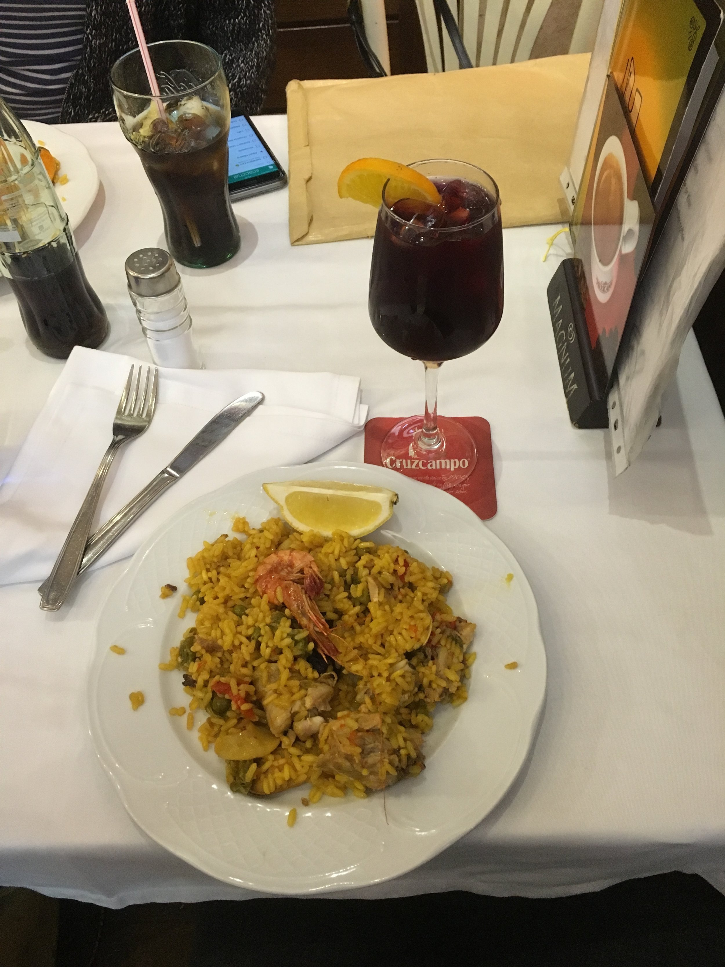 Made a rookie move on my first day in Madrid— got Paella at a place that advertised with pictures and had a serving for just one person