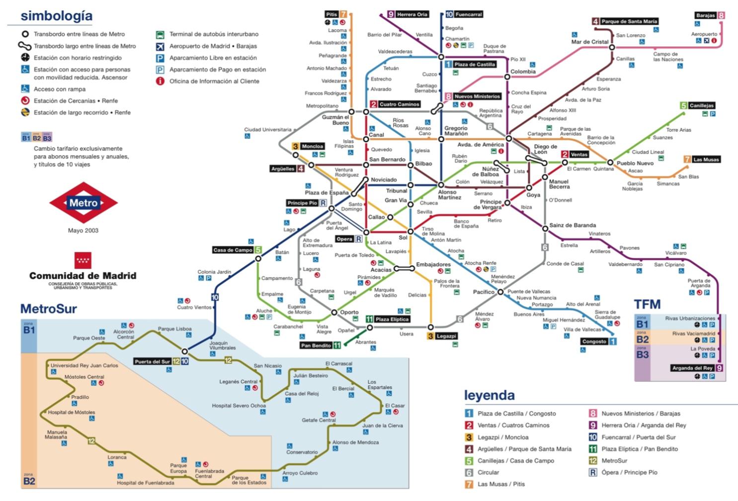 The Madrid Metro Map