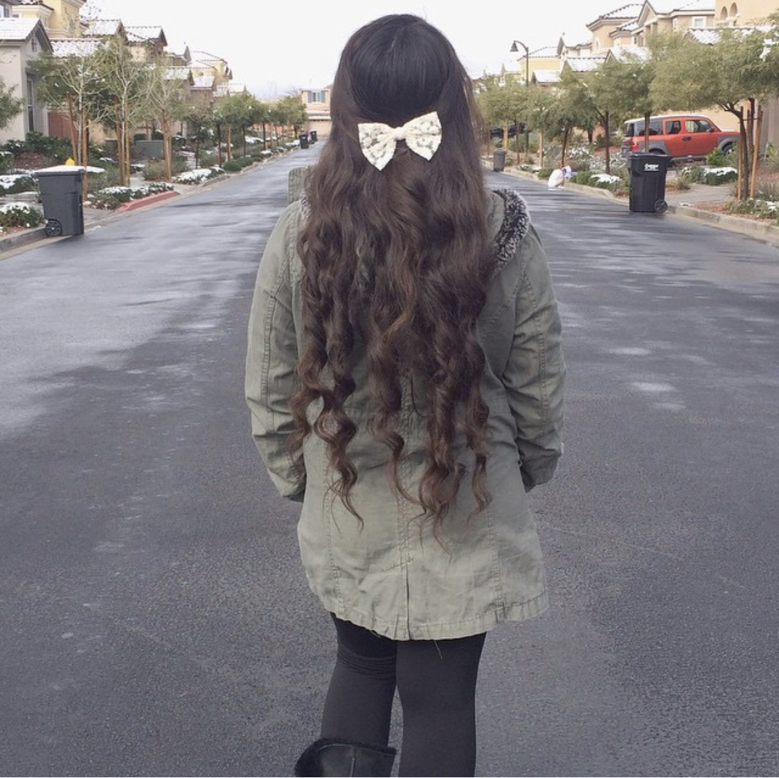 I apparently put bows in my hair a lot