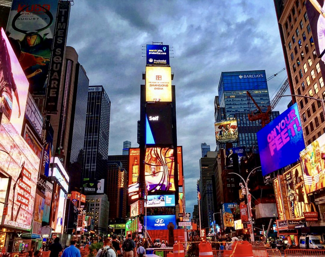The  infamous  Times Square!