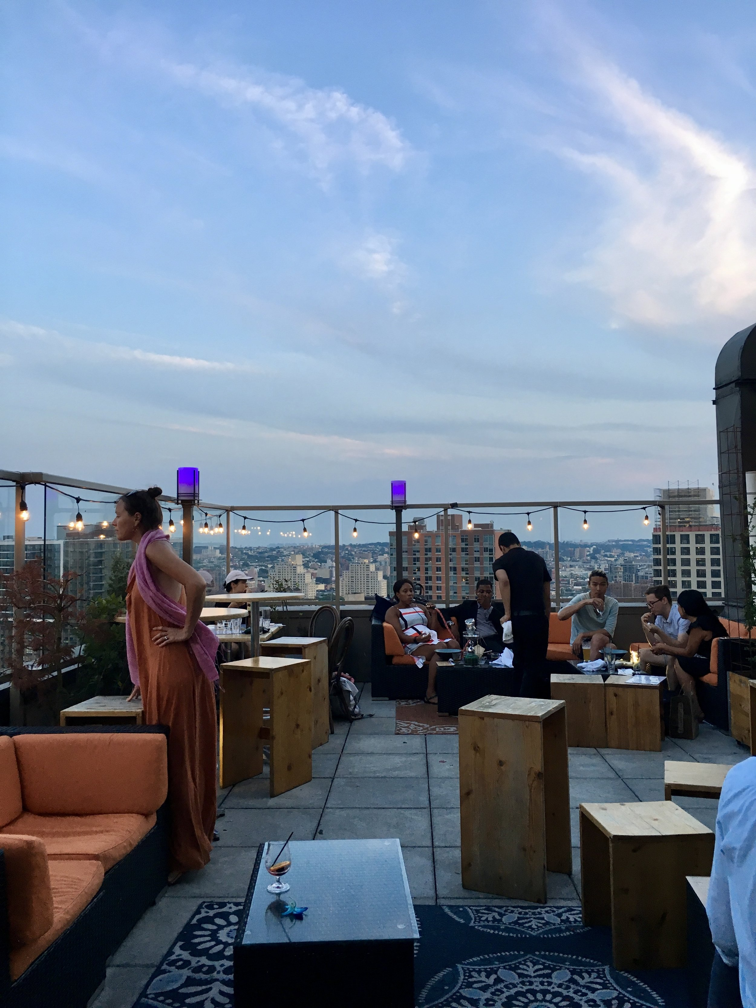 The beautiful rooftop of   Kimoto   in Brooklyn