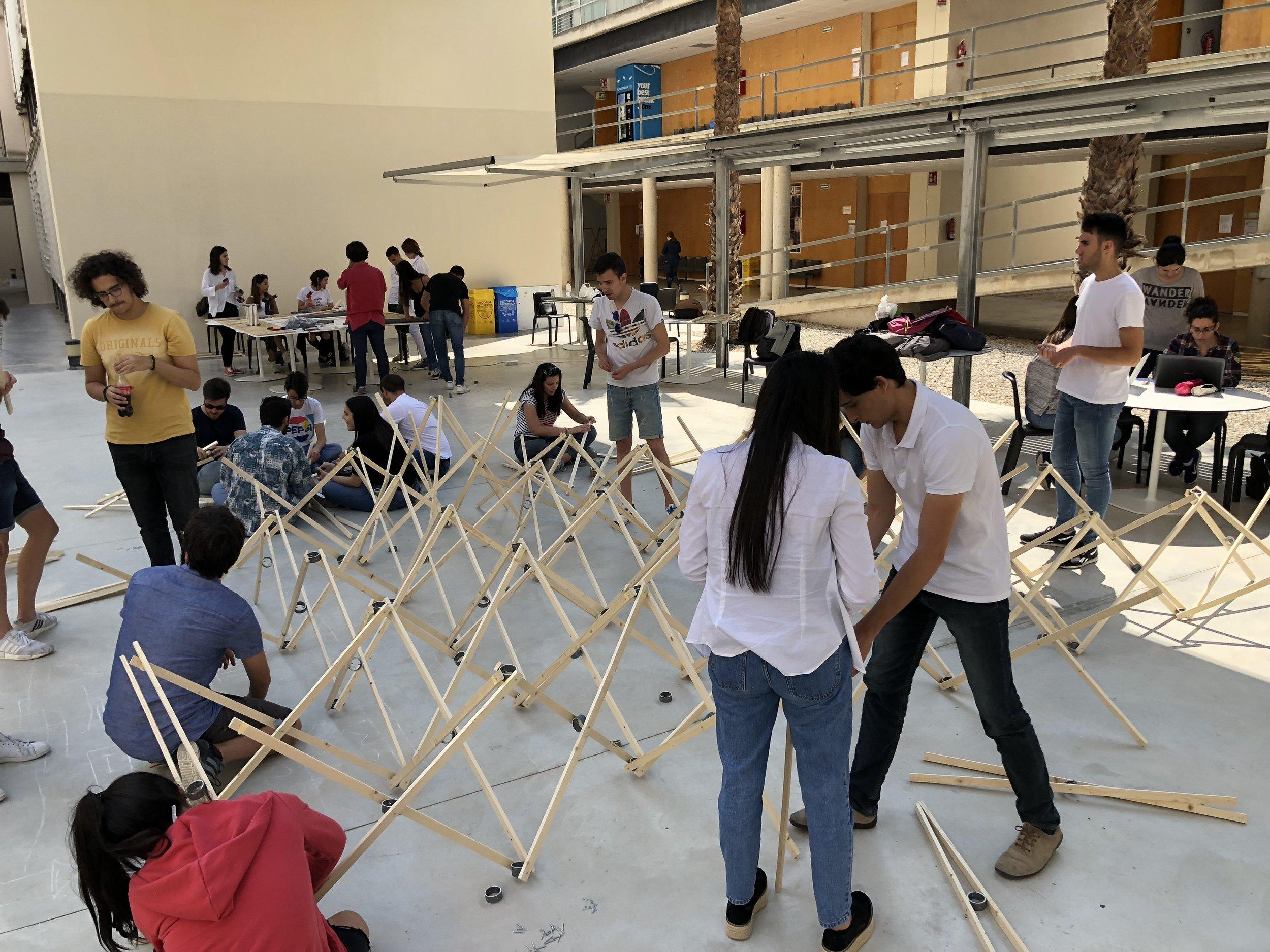 Final structure with Universidad de Alicante students