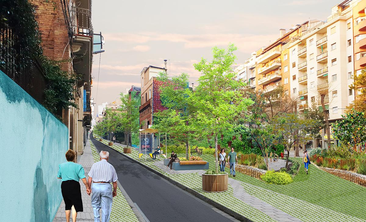 eix verd vallcarca_carrer bolivar.jpg