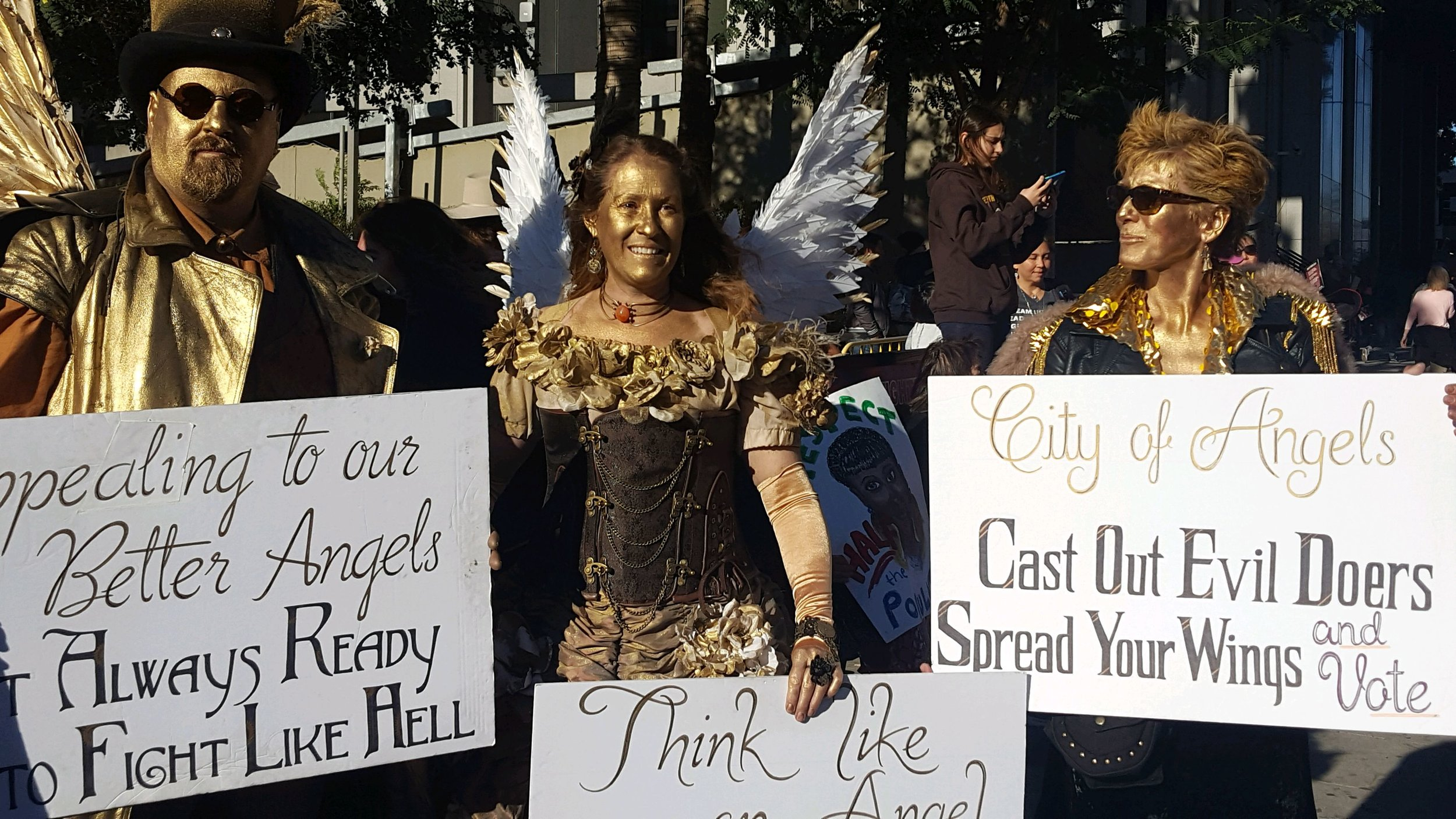 Angels among us at The 2018 Women's March Los Angeles, California.