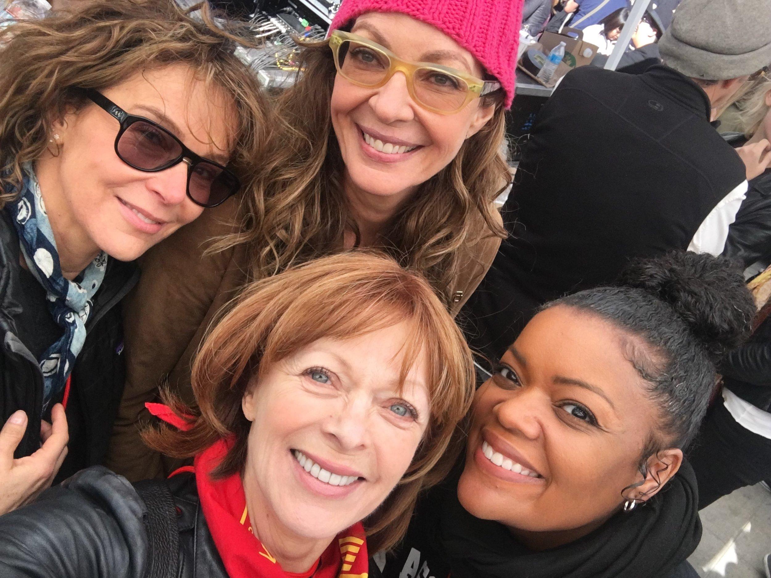 Jennifer Grey, Allison Janney, Frances Fisher, Yvette Nicole Brown.