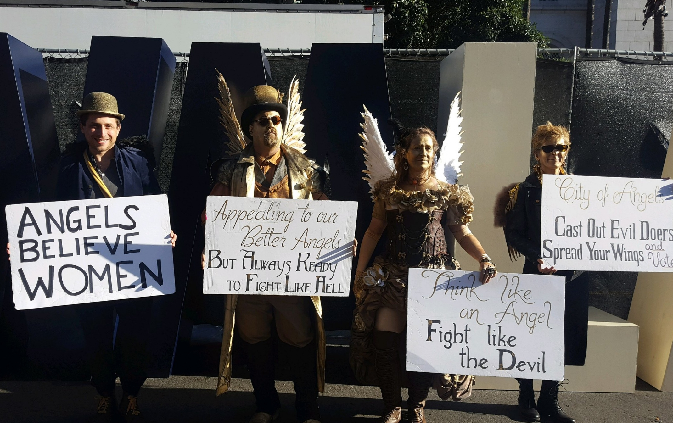 Angels with signs. Scenes from The 2018 Women's March Los Angeles, California with Max Kleinman @maxually