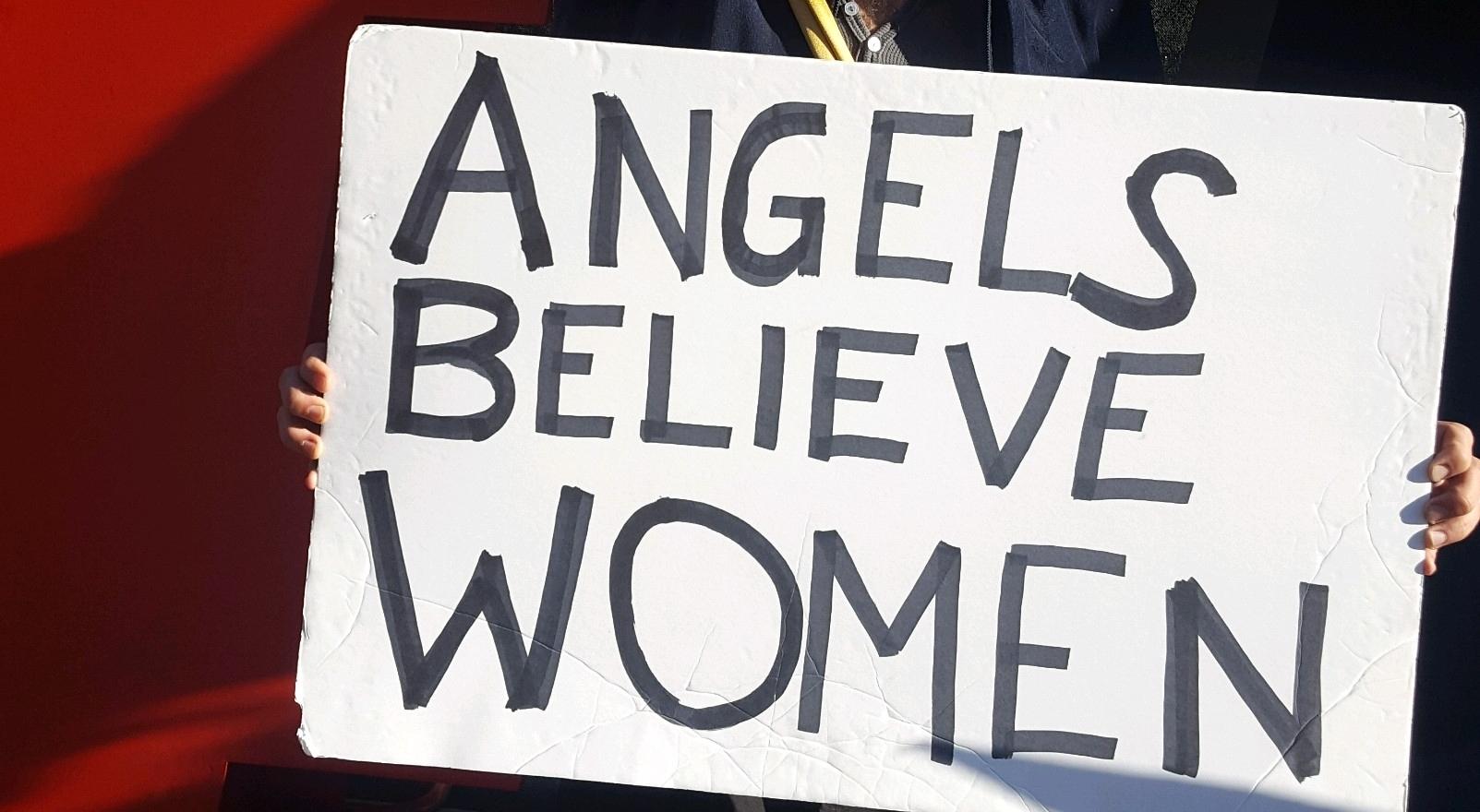 Angels believe in women. Scenes from The 2018 Women's March Los Angeles, California.