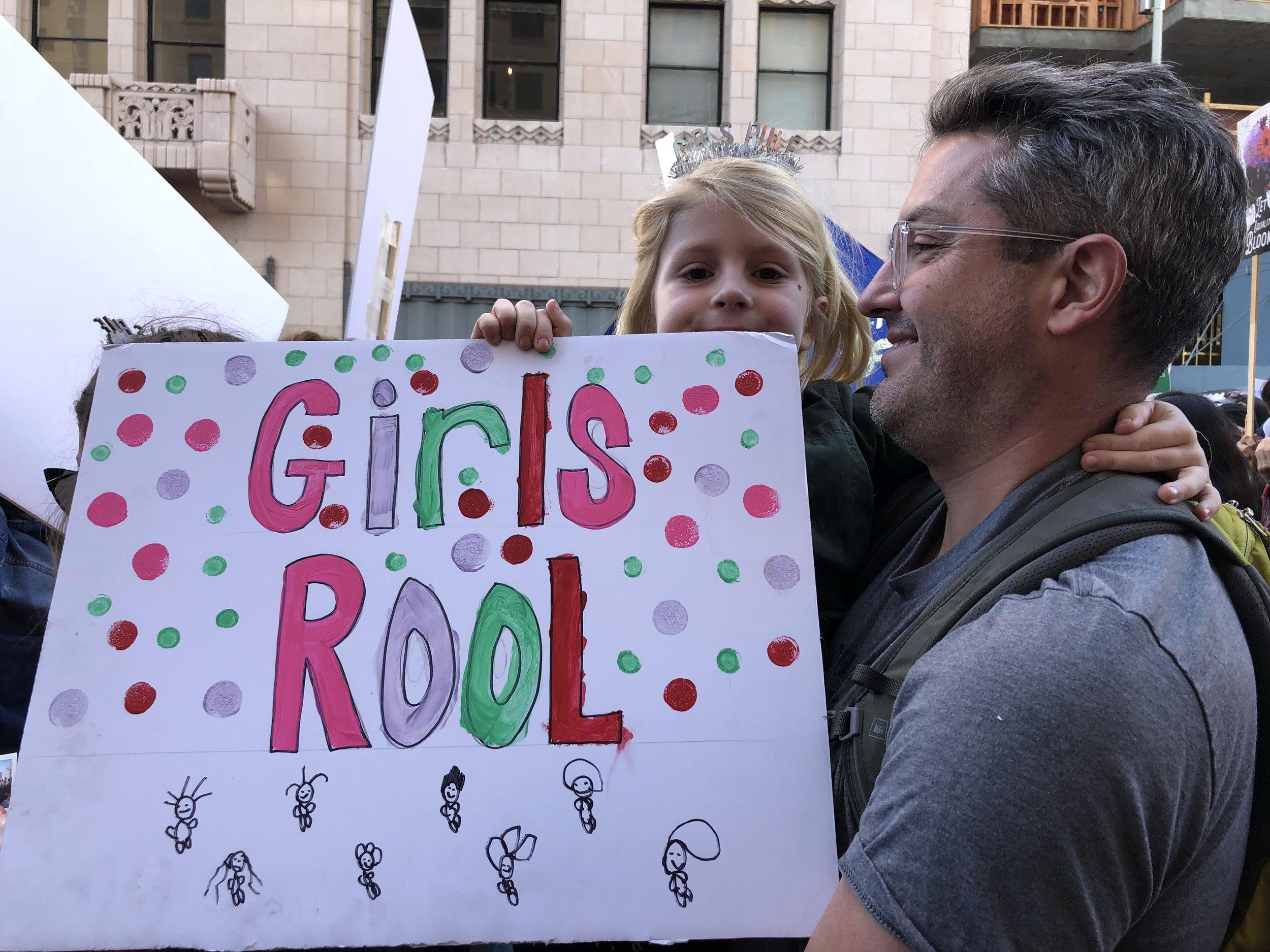 Girls Rool - 2018 Women's March, Los Angeles, Ca.