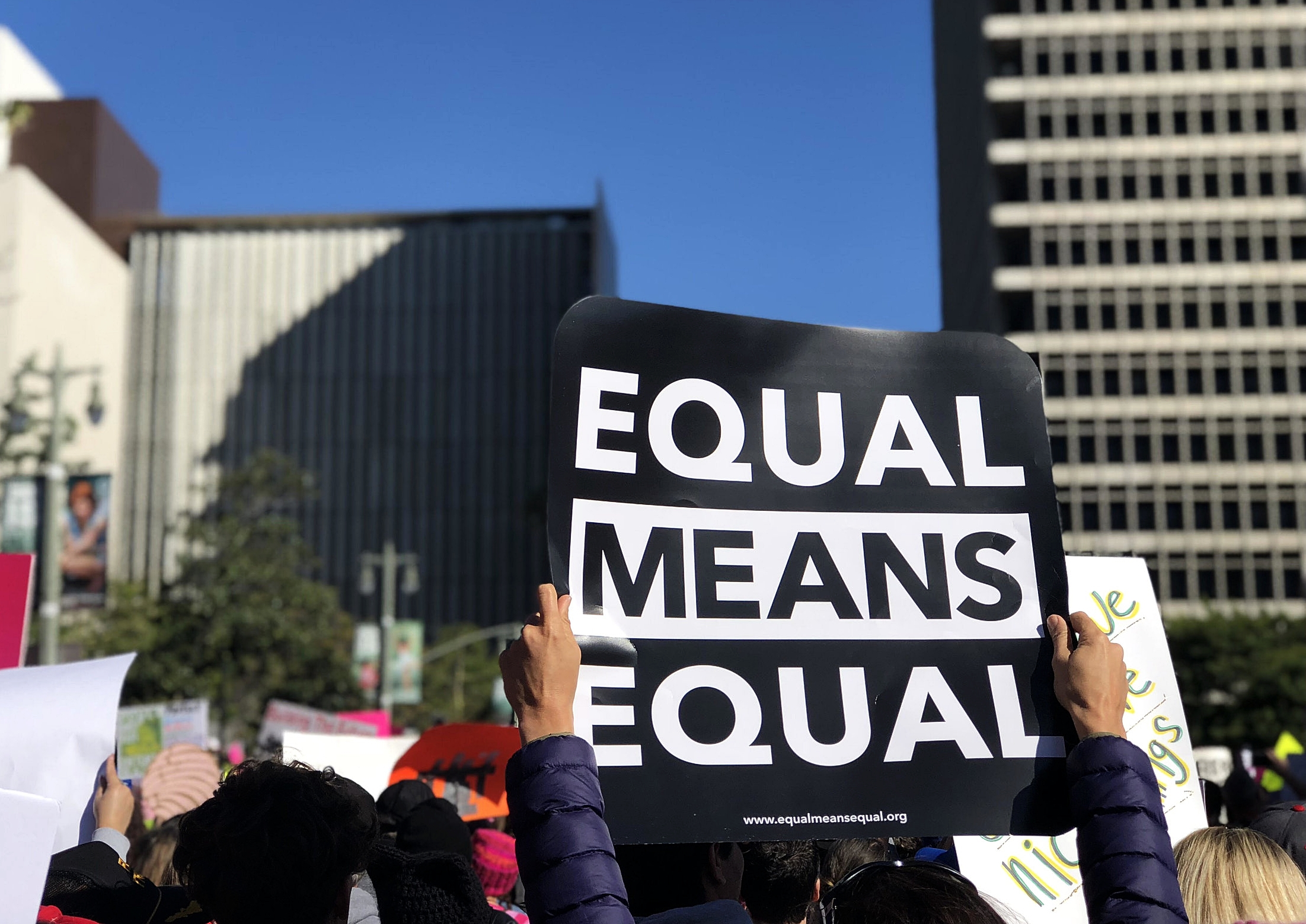 Equal Means Equal: 2018 Women's March Los Angeles, Ca.