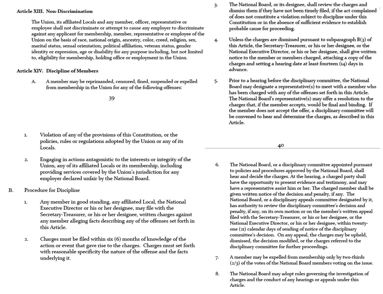 Current SAGAFTRA Constitution
