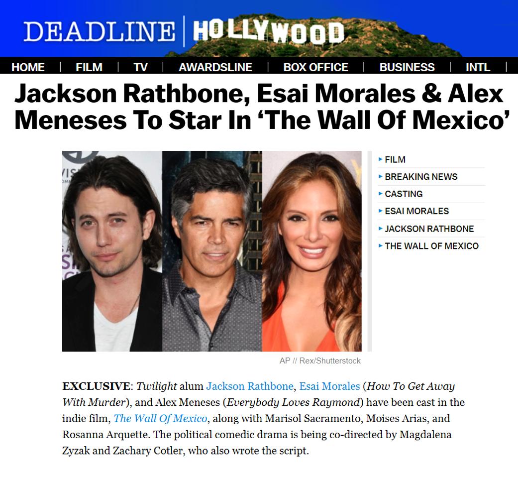 Esai Morales, Jackson Rathbone Alex Meneses, Membership First, SAGAFTRA
