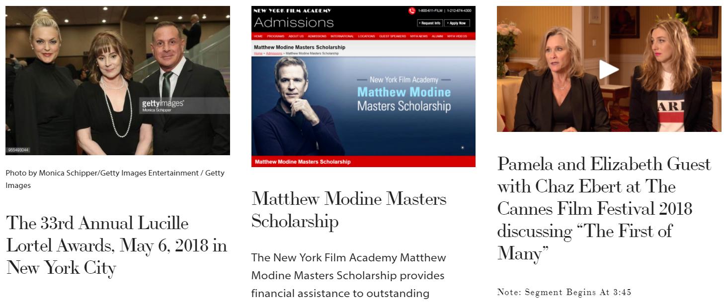 MembershipFirst, SAGAFTRA, Matthew Modine, Pamela Guest, Patricia Richardson, news May.PNG