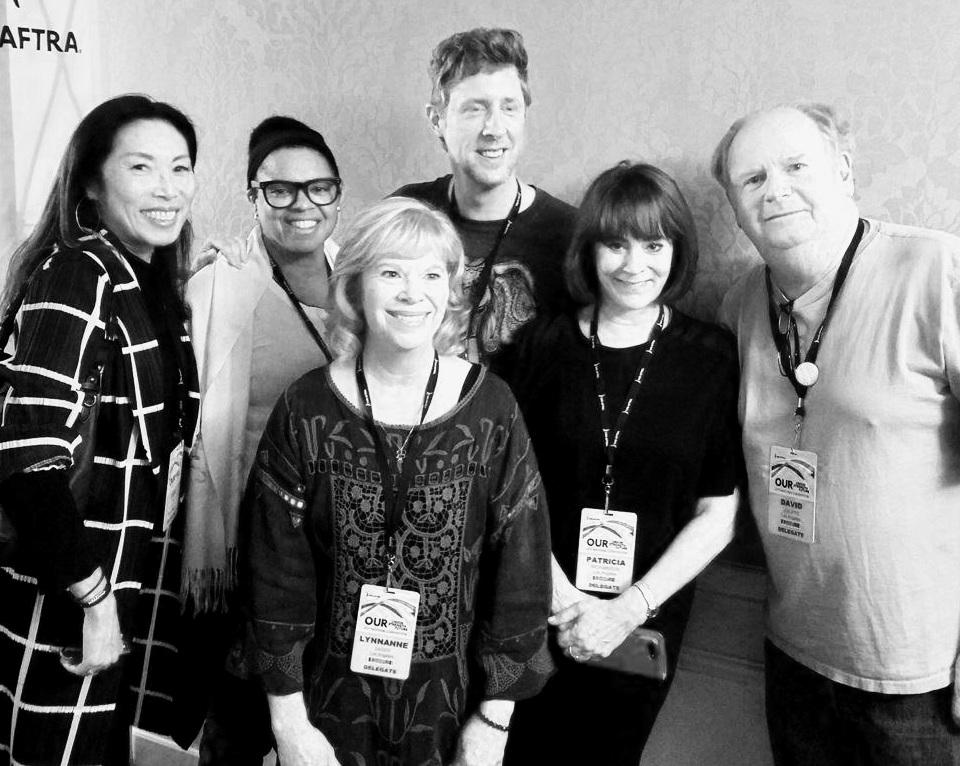 Jodi Long, Donna Lynn Leavy, Lynneanne Zager, Patricia Richardson & David Jolliffe at The #SAGAFTRAconvention.jpg