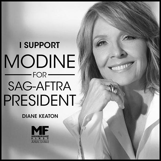 ‪Diane Keaton endorses Matthew Modine's candidacy for President of #SAGAFTRA. You can too! Join us by visiting https://www.gofundme.com/f/matthew-modine-sagaftra-president-2019. Interested media contact Nelson@workhousepr.com @matthewmodine @diane_keaton . . . . #matthewmodine #hollywood #movie #film #cinema #television #tv #filmmaking #actor #acting #stunt #cinema #election #sagaftra #performers #strangerthings #fullmetaljacket #batman @sagaftra  #membershipfirst #artistsunited #stuntperformers #backgroundperformers #union #unionstrong #solidarity