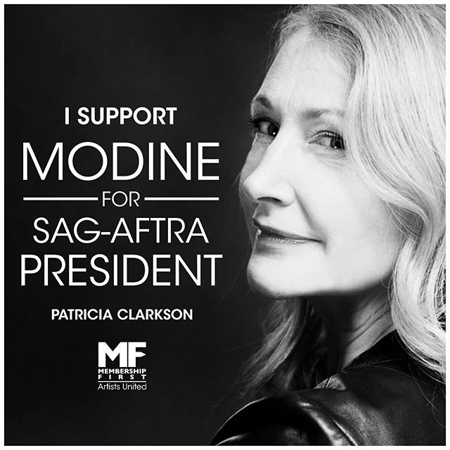 ‪Patricia Clarkson endorses Matthew Modine's candidacy for President of #SAGAFTRA. You can too! Join us by visiting https://www.gofundme.com/f/matthew-modine-sagaftra-president-2019. Interested media contact Nelson@workhousepr.com @matthewmodine #patriciaclarkson . . . . #matthewmodine #hollywood #movie #film #cinema #television #tv #filmmaking #actor #acting #stunt #cinema #election #sagaftra #performers #strangerthings #fullmetaljacket #batman @sagaftra  #membershipfirst #artistsunited #stuntperformers #backgroundperformers #union #unionstrong #solidarity
