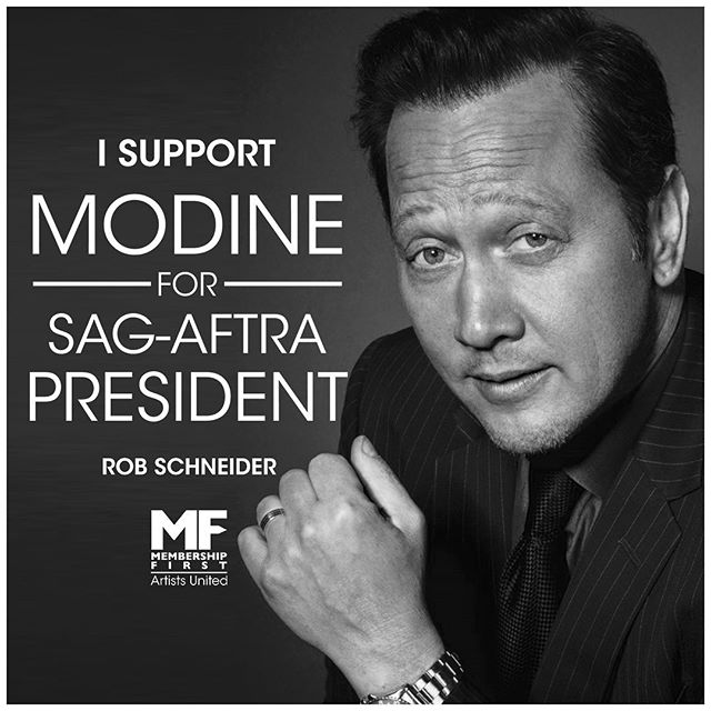 ‪ Rob Schneider endorses Matthew Modine's candidacy for President of #SAGAFTRA. You can too! Join us by visiting https://www.gofundme.com/f/matthew-modine-sagaftra-president-2019. Interested media contact Nelson@workhousepr.com @matthewmodine @iamrobschneider . . . . #matthewmodine #hollywood #movie #film #cinema #television #tv #filmmaking #actor #acting #stunt #cinema #election #sagaftra #performers #strangerthings #fullmetaljacket #batman @sagaftra  #membershipfirst #artistsunited #stuntperformers #backgroundperformers #union #unionstrong #solidarity