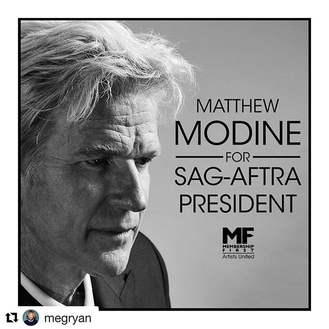 Meg Ryan endorses Matthew Modine's candidacy for #SAGAFTRA President #Repost @megryan ・・・ THE BEST!! @matthewmodine You can too! Join us by visiting https://www.gofundme.com/f/matthew-modine-sagaftra-president-2019. Interested media contact Nelson@workhousepr.com @matthewmodine #megryan #VoteModine . . . #matthewmodine #hollywood #movie #film #cinema #television #tv #filmmaking #actor #acting #stunt #cinema #election #sagaftra #performers #strangerthings #fullmetaljacket #batman @sagaftra  #membershipfirst #artistsunited #stuntperformers #backgroundperformers #union #unionstrong #solidarity