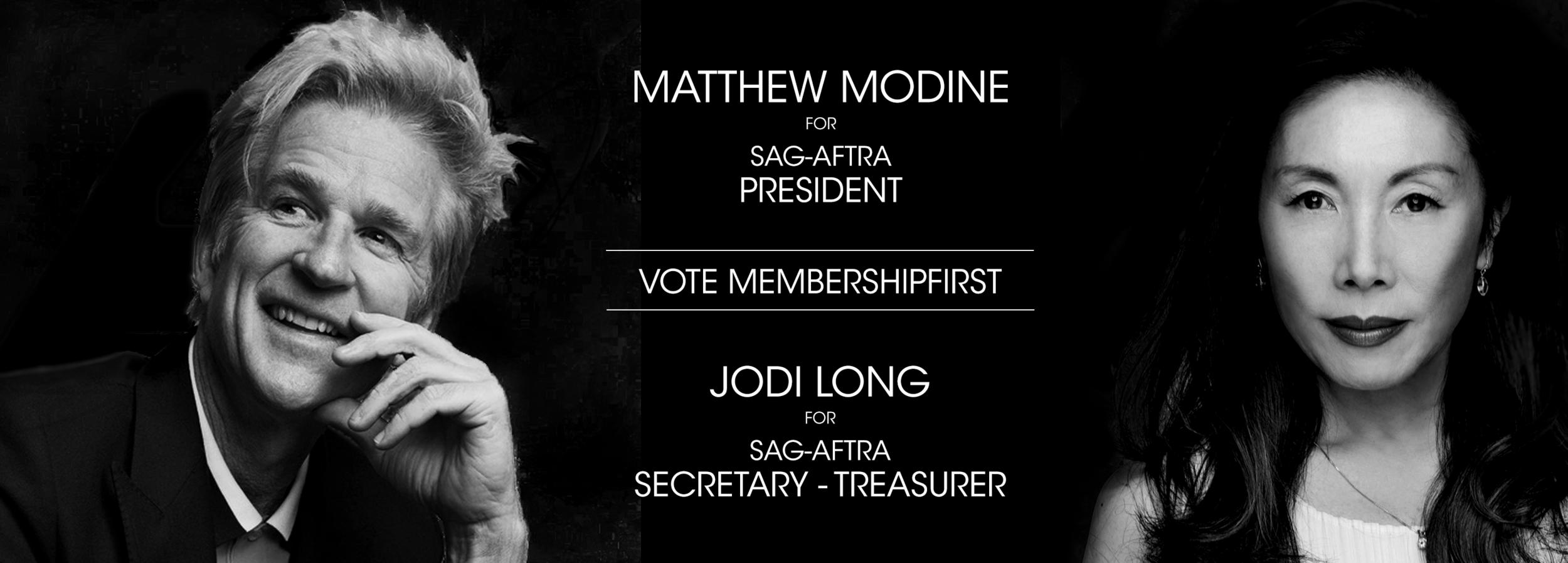 Matthew Modine Jodi Long SAGAFTRA MembershipFirst