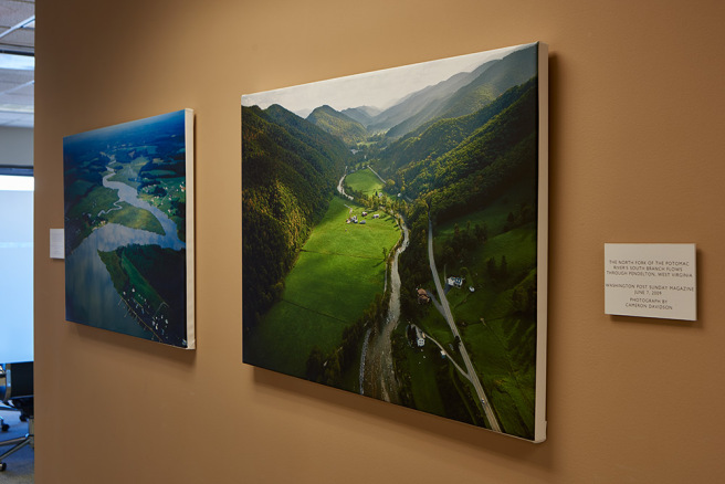 Two canvas prints from my aerial book on the Chesapeake Bay watershed.