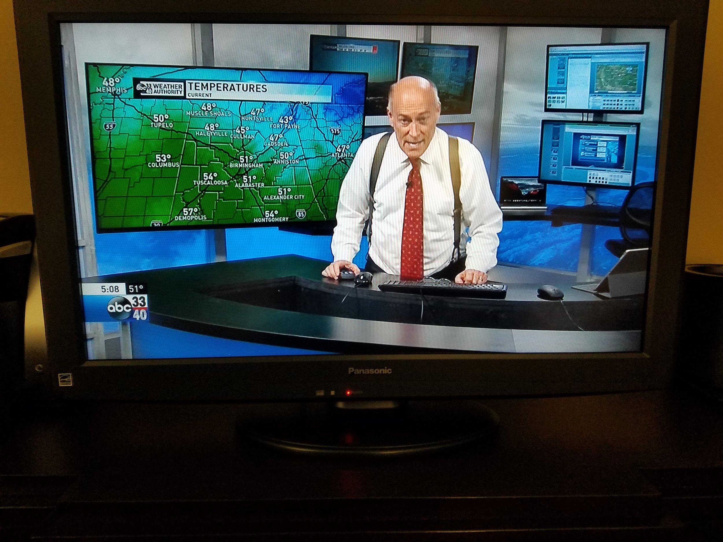 James Spann on TV, March 2018