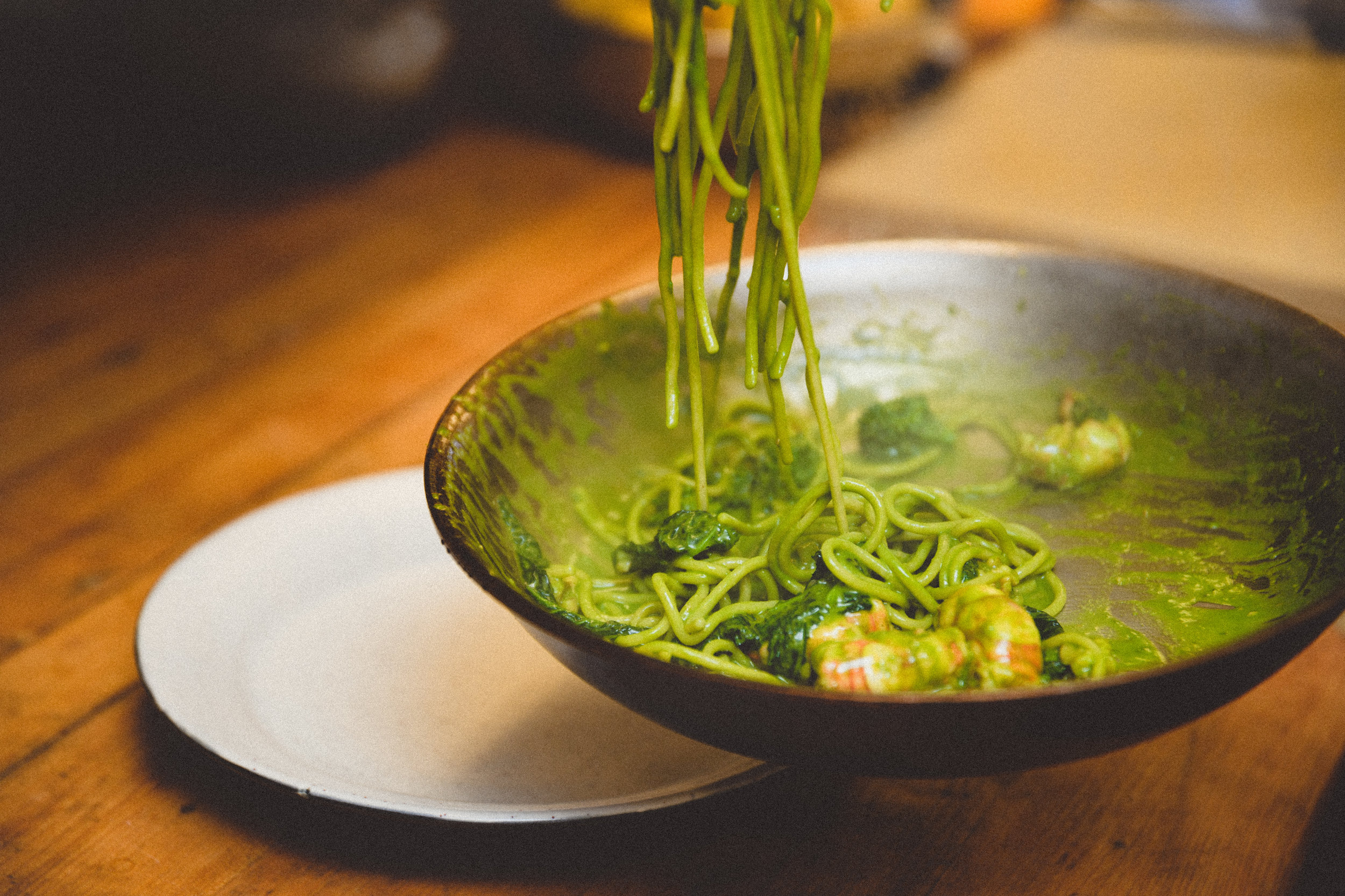 Spelt Spaghetti with Stonington Red Shrimp, Garlic Conserva, Broccolini Pesto, Walnuts, Pimenton Toasted Breadcrumbs (7).JPG
