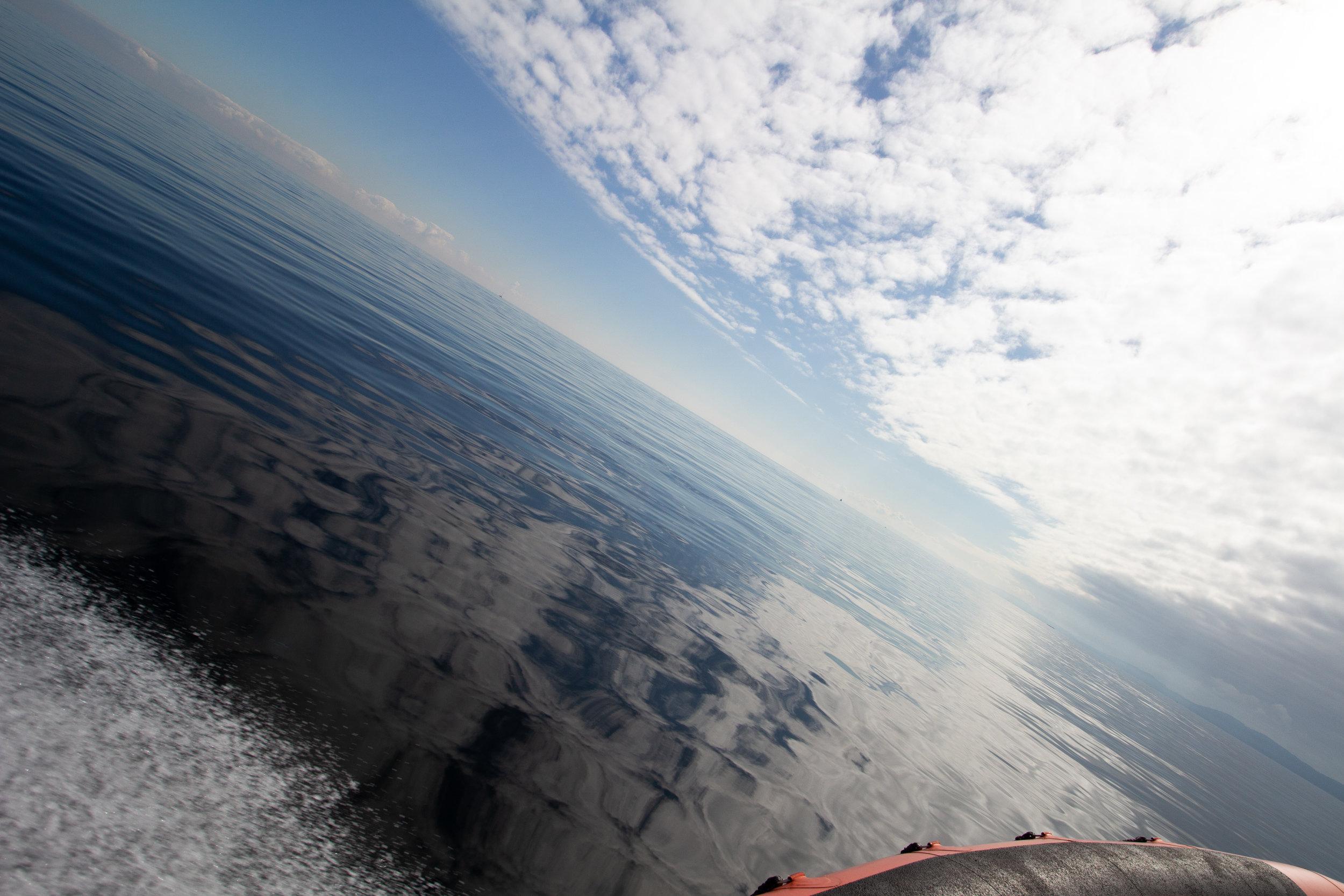 Seas like glass! Photo by Natalie Reichenbacher