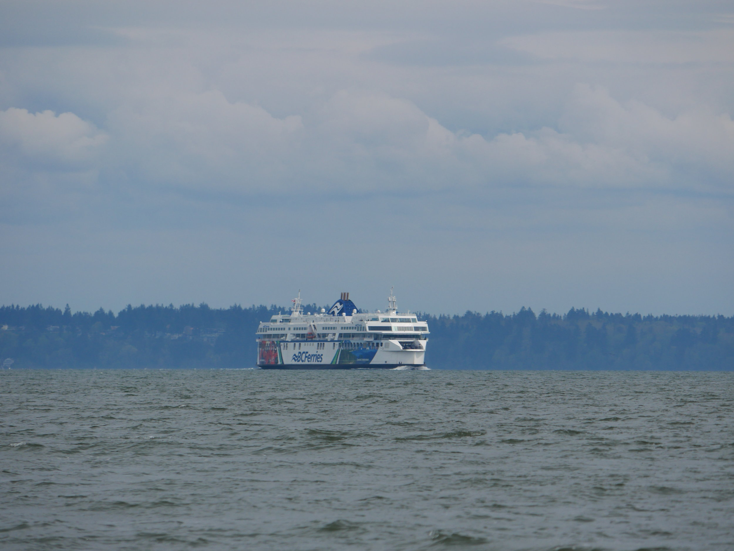 One of the BC Ferries crossing the Strait of Georgia. Photo by Jilann Campbell
