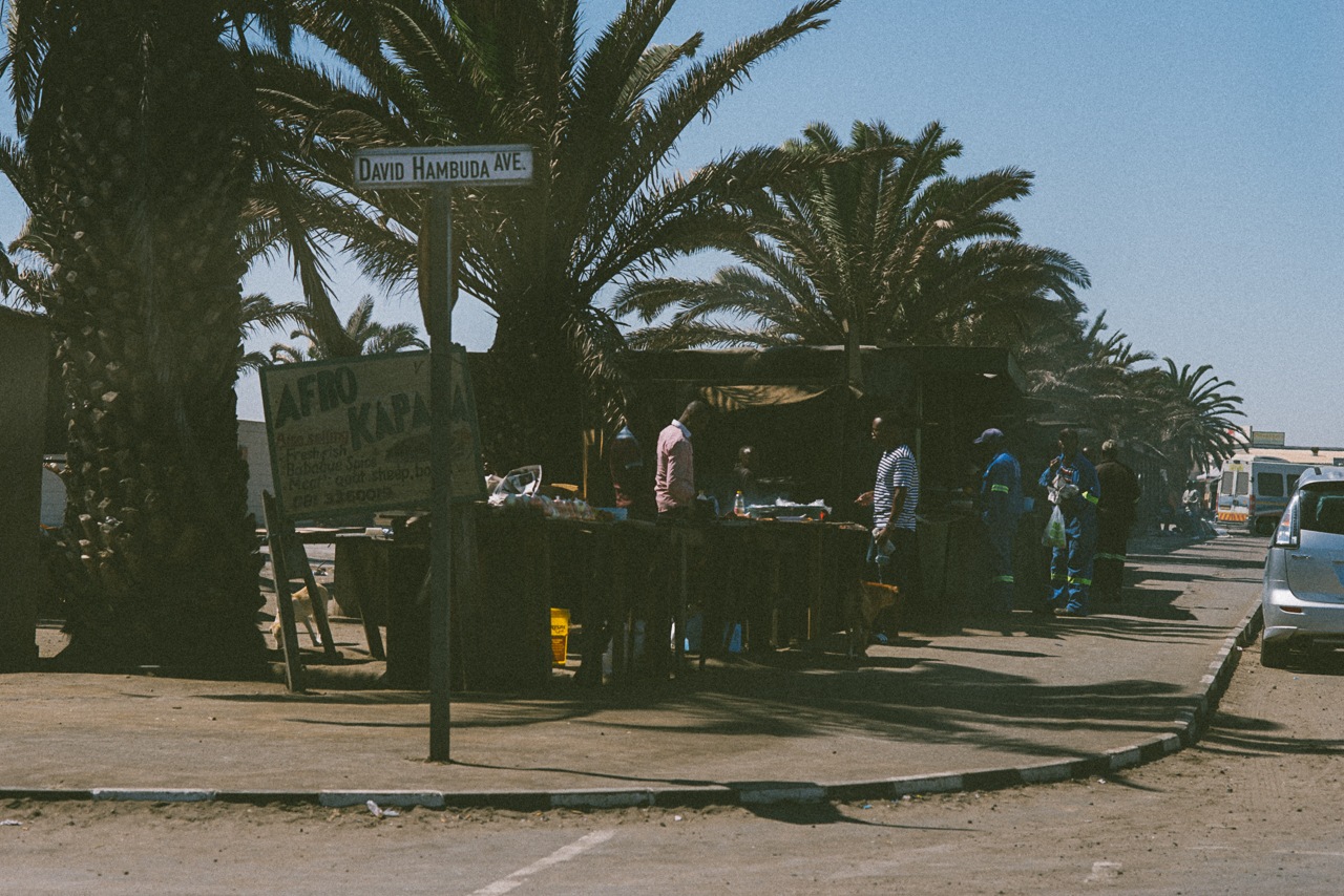 Scenes from the 'location' in Walvis Bay. Compare these streets to the next photo