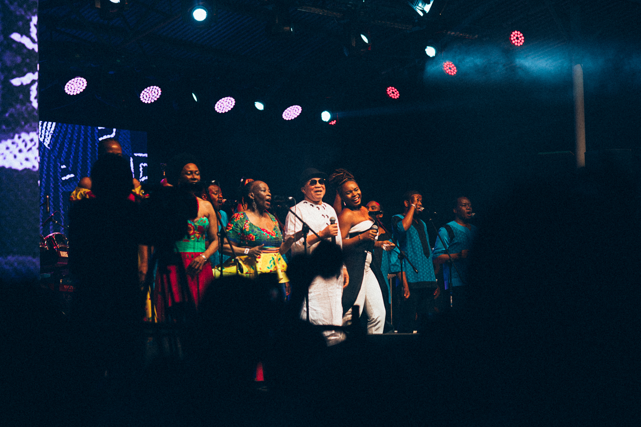 Salif Keita, Yemi Alade & Ladysmith on stage at Bush Fire Festival